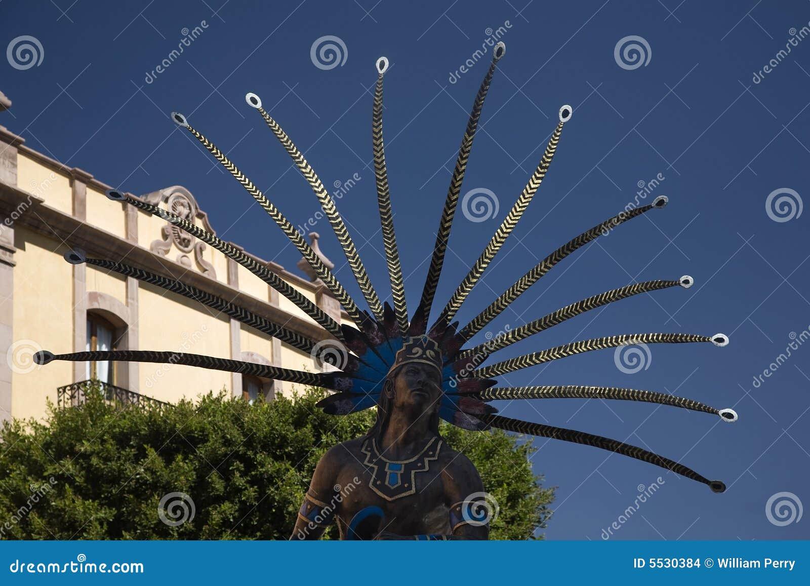ινδικό του Μεξικού άγαλμα queretaro plaza δημόσιο