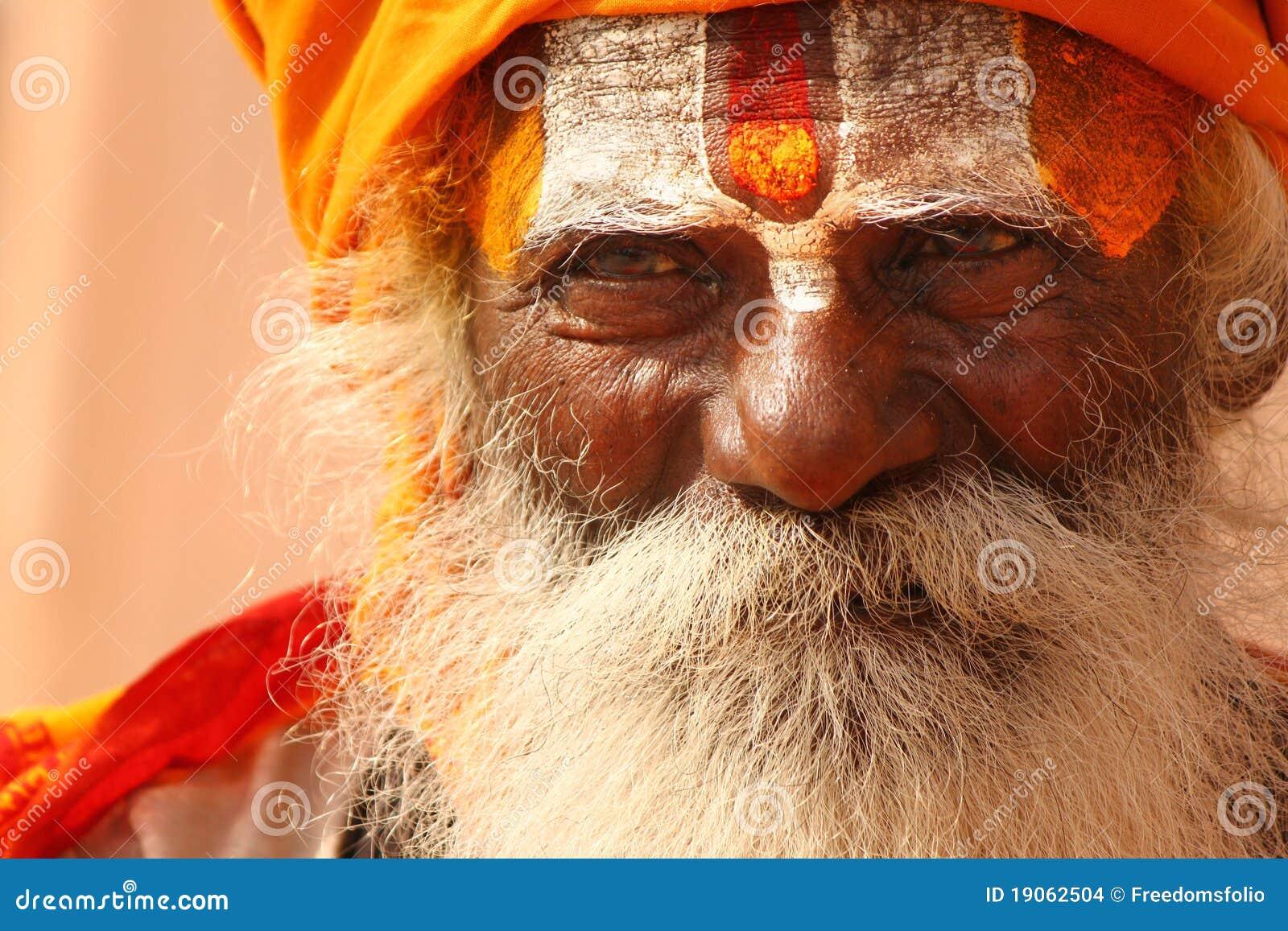 ινδός μοναχός Varanasi