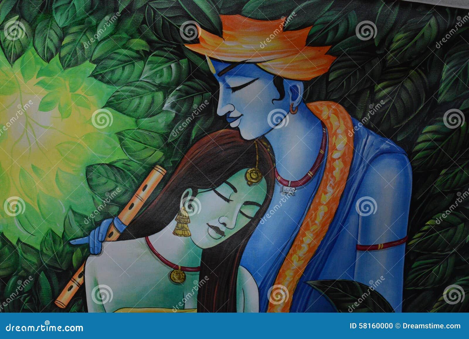 Ινδική ζωγραφική krishna-Radha