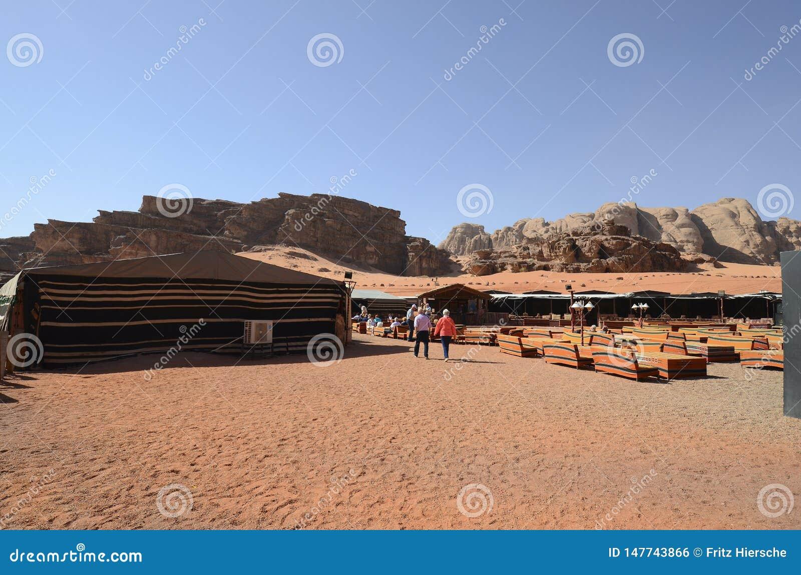 Ιορδανία, ρούμι Wadi, στρατόπεδο τουριστών