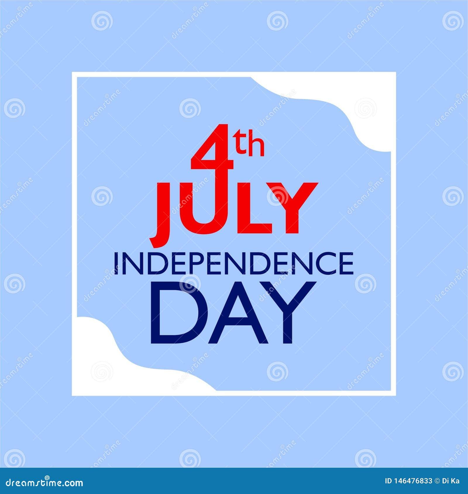 4 Ιουλίου εγγραφή χαιρετισμού ημέρας της ανεξαρτησίας