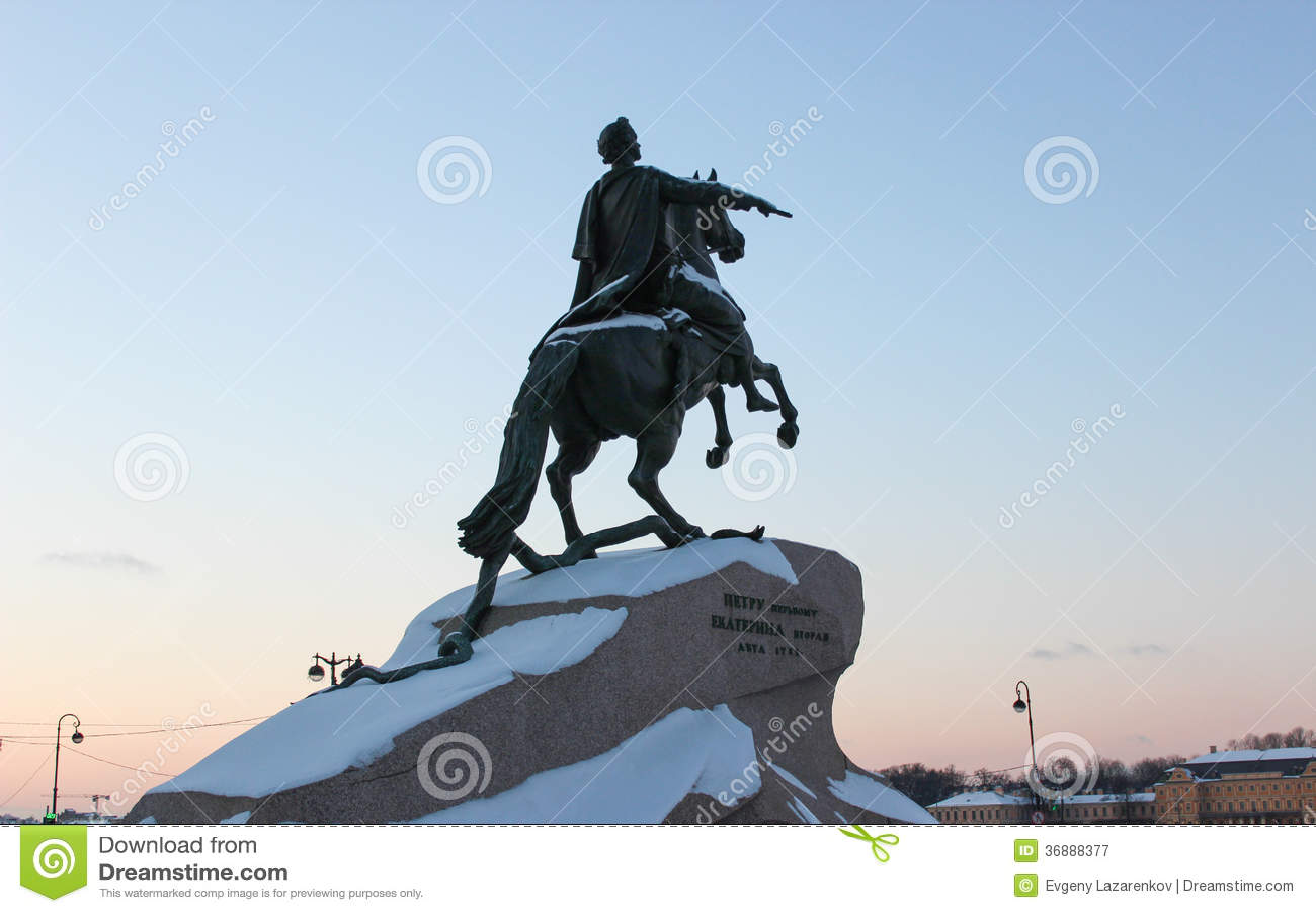 Ιππέας χαλκού, μνημείο σε Petere πρώτα, Άγιος-Πετρούπολη