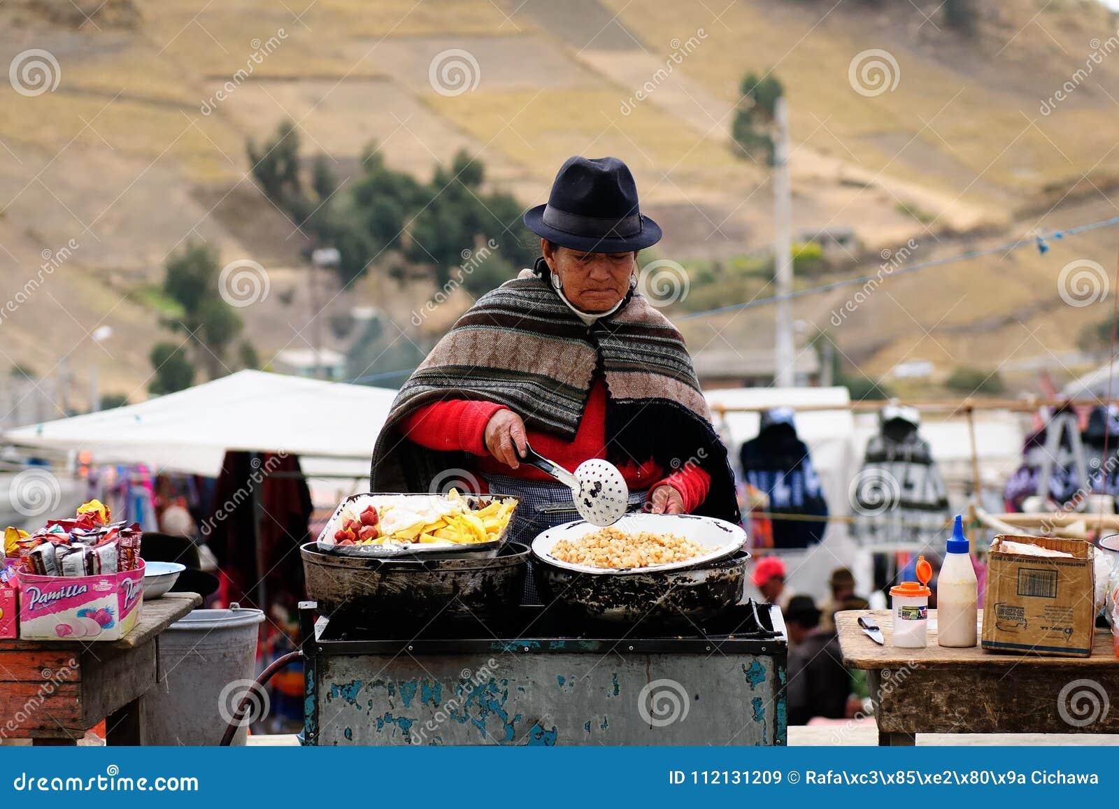 Ισημερινός, εθνική αγορά στο χωριό Pujili