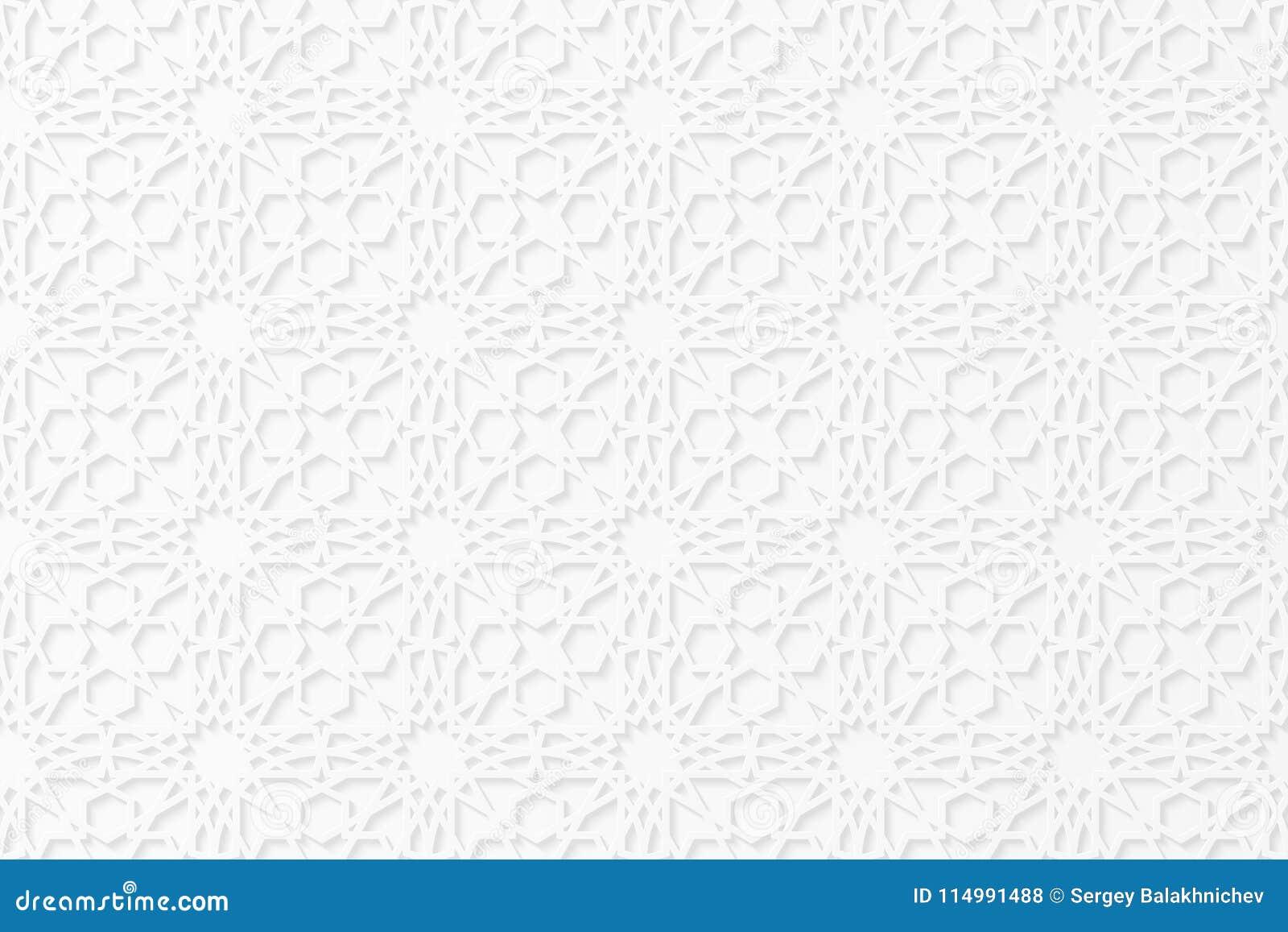 Ισλαμική γεωμετρική τρισδιάστατη διακόσμηση αραβικό πρότυπο Μαζικό σχέδιο της Λευκής Βίβλου Η μειωμένη σκιά χαρτόνι kareem ramada