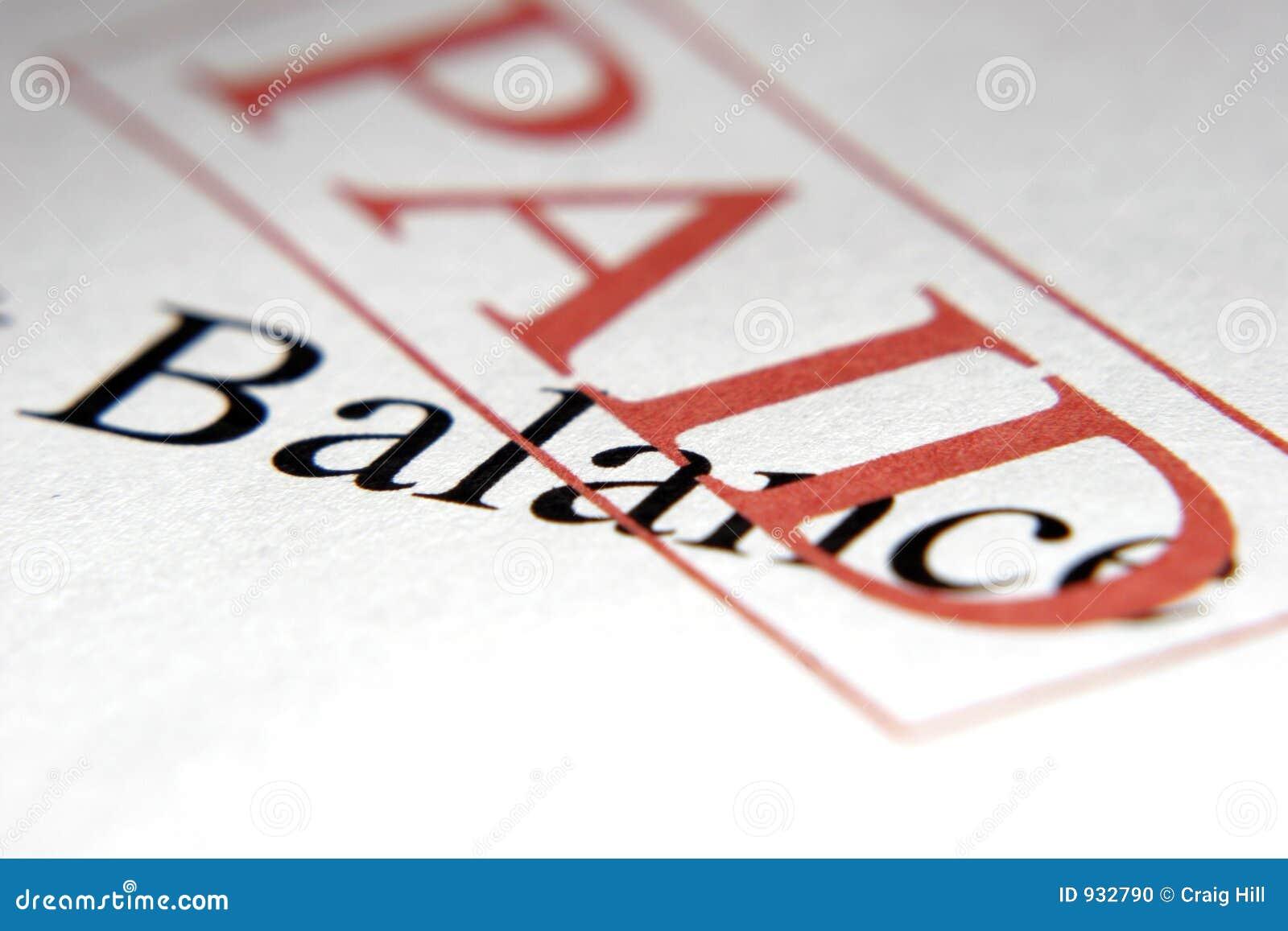 ισορροπία που πληρώνεται