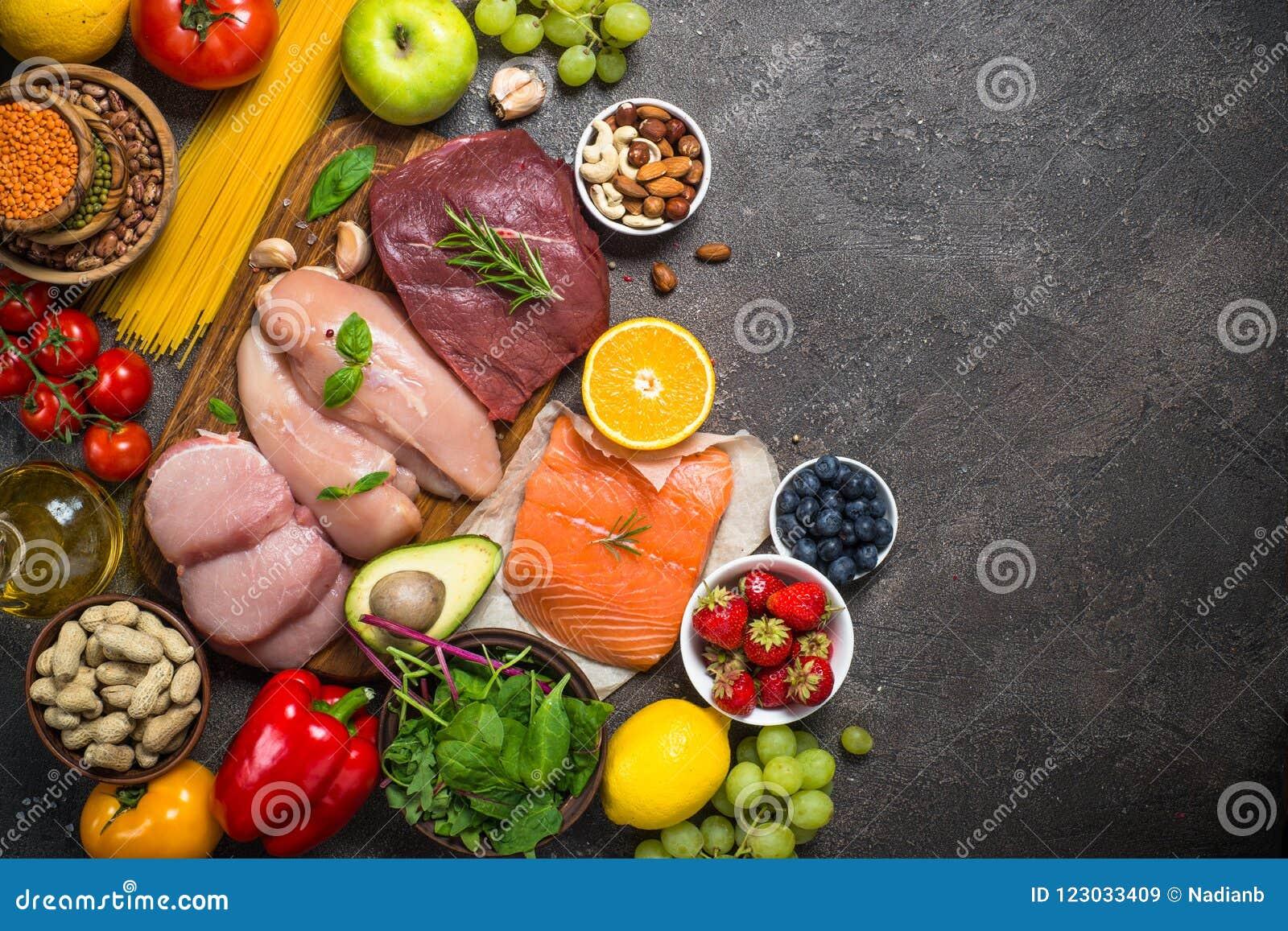 Ισορροπημένο υπόβαθρο τροφίμων διατροφής