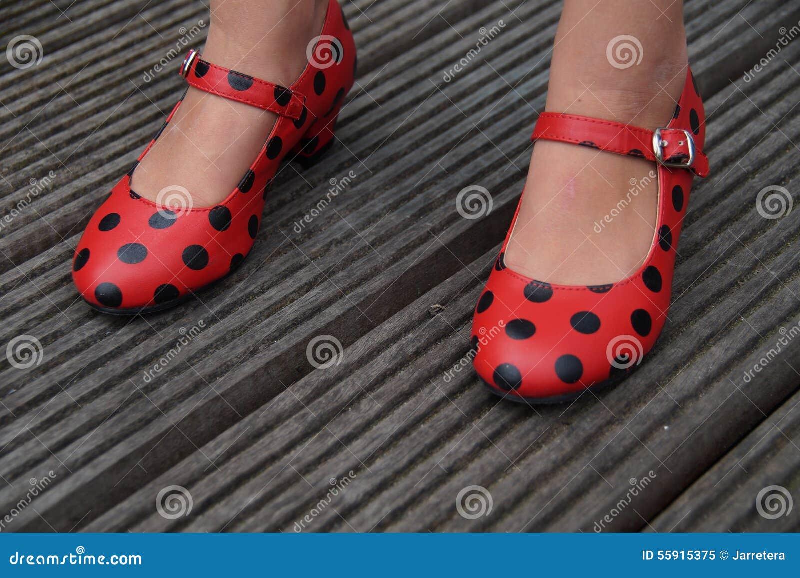 08328d8424e Ισπανικά Flamenco παπούτσια χορού - που στέκονται Στοκ Εικόνα ...