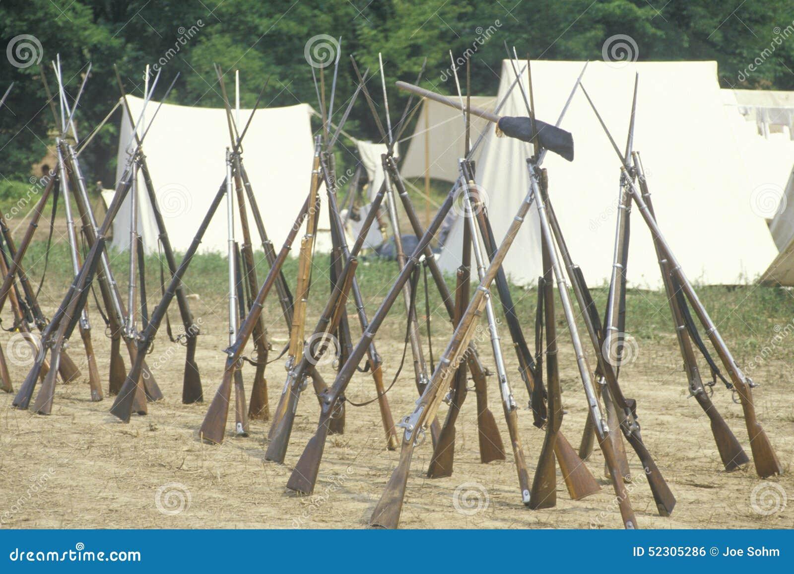 Ιστορική αναπαράσταση της μάχης Manassas, που χαρακτηρίζει την αρχή του εμφύλιου πολέμου, Βιρτζίνια