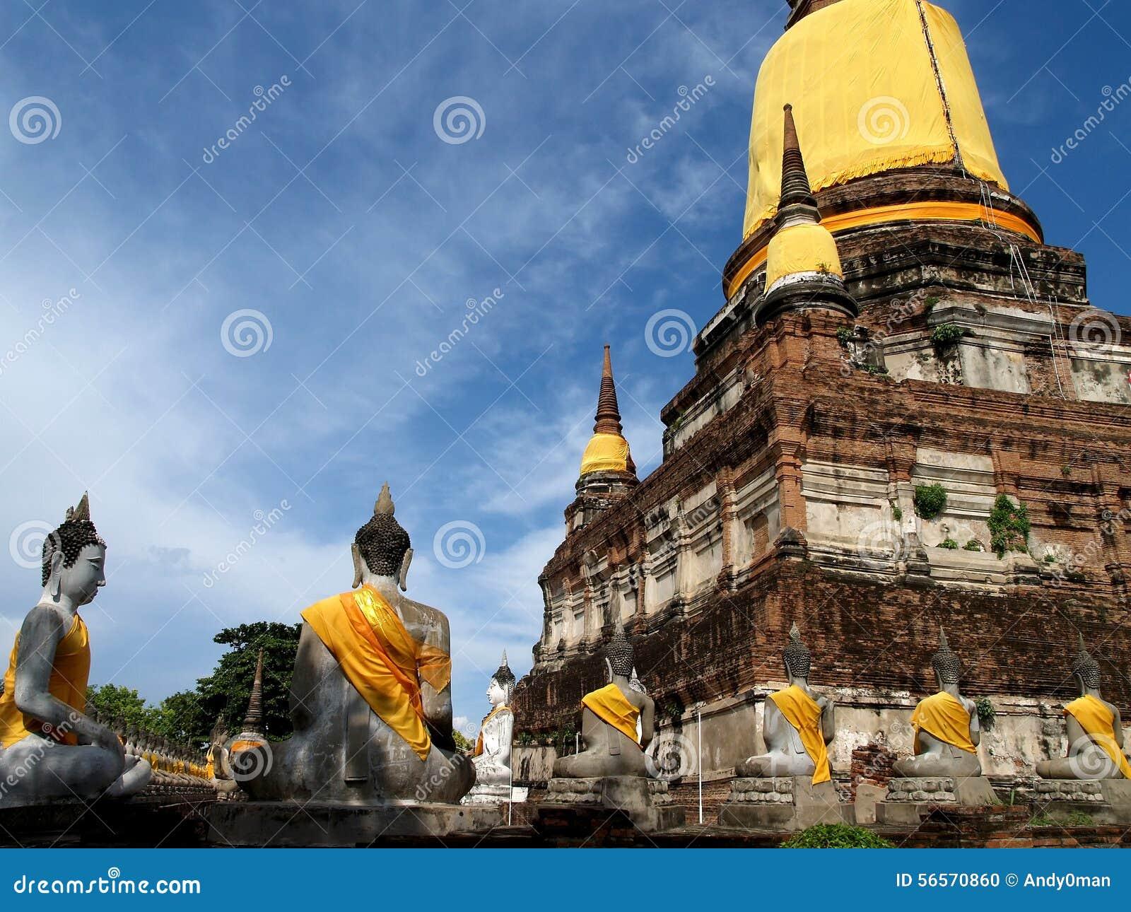 Download Ιστορικός-πάρκο Ayutthaya στοκ εικόνες. εικόνα από ουρανός - 56570860