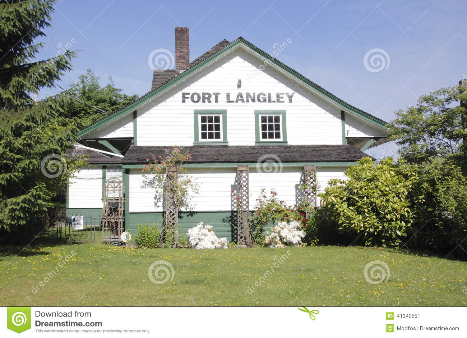 Ιστορικός σταθμός τρένου Langley οχυρών