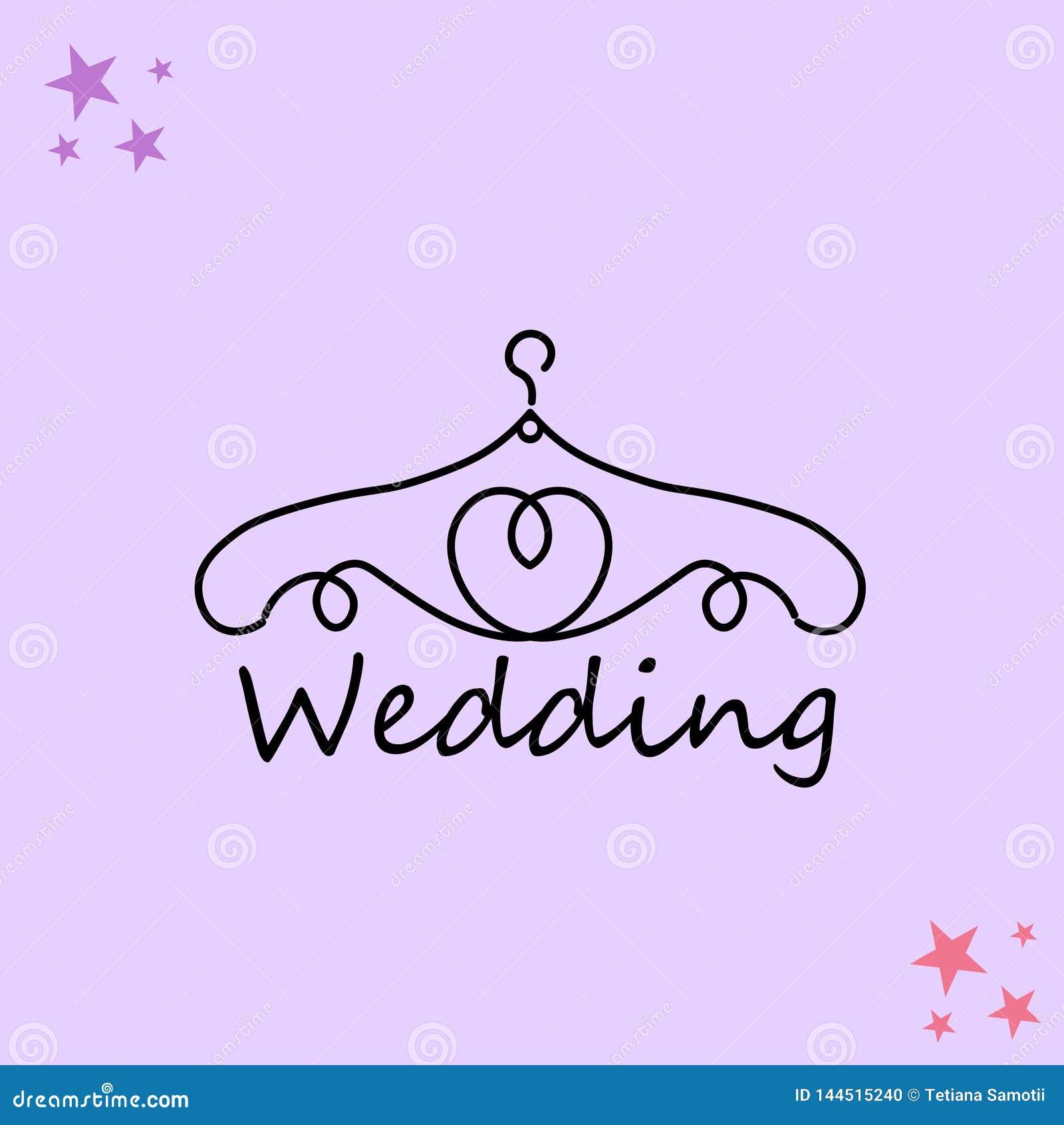 Ιστός Λογότυπο για το ατελιέ, γαμήλια μπουτίκ, κατάστημα ιματισμού των γυναικών Διανυσματικό πρότυπο του εμπορικού σήματος για το