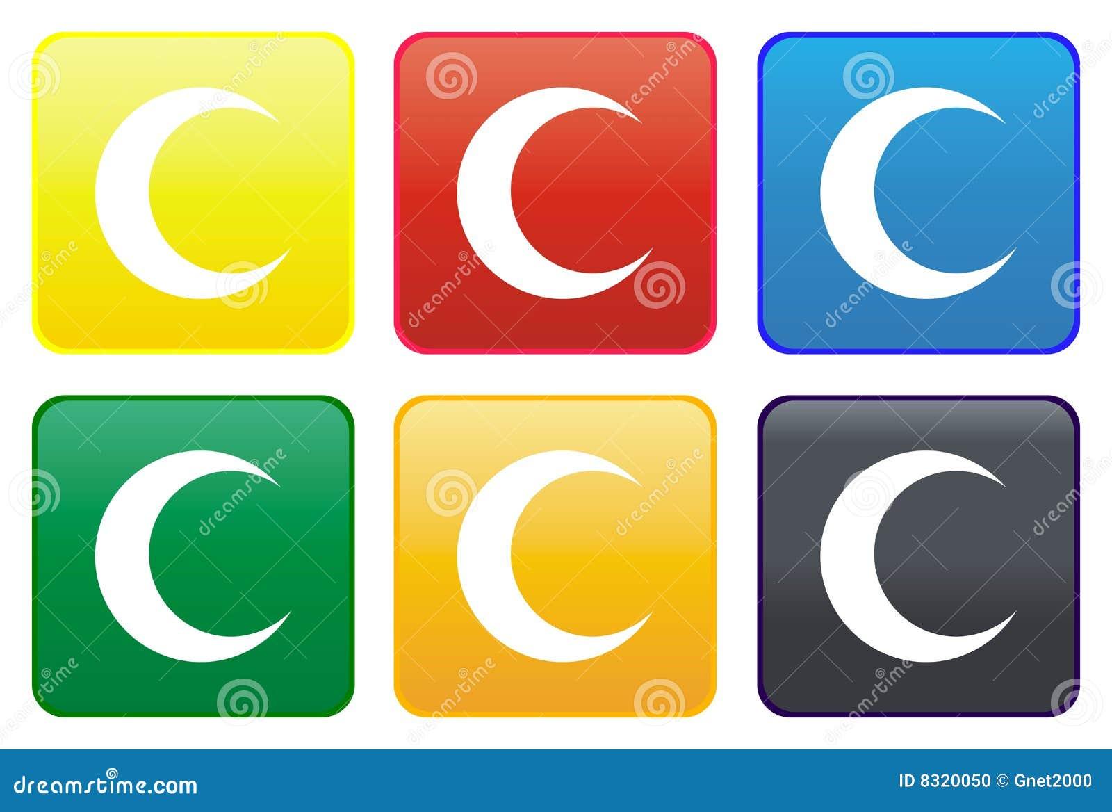 Ιστός φεγγαριών κουμπιών