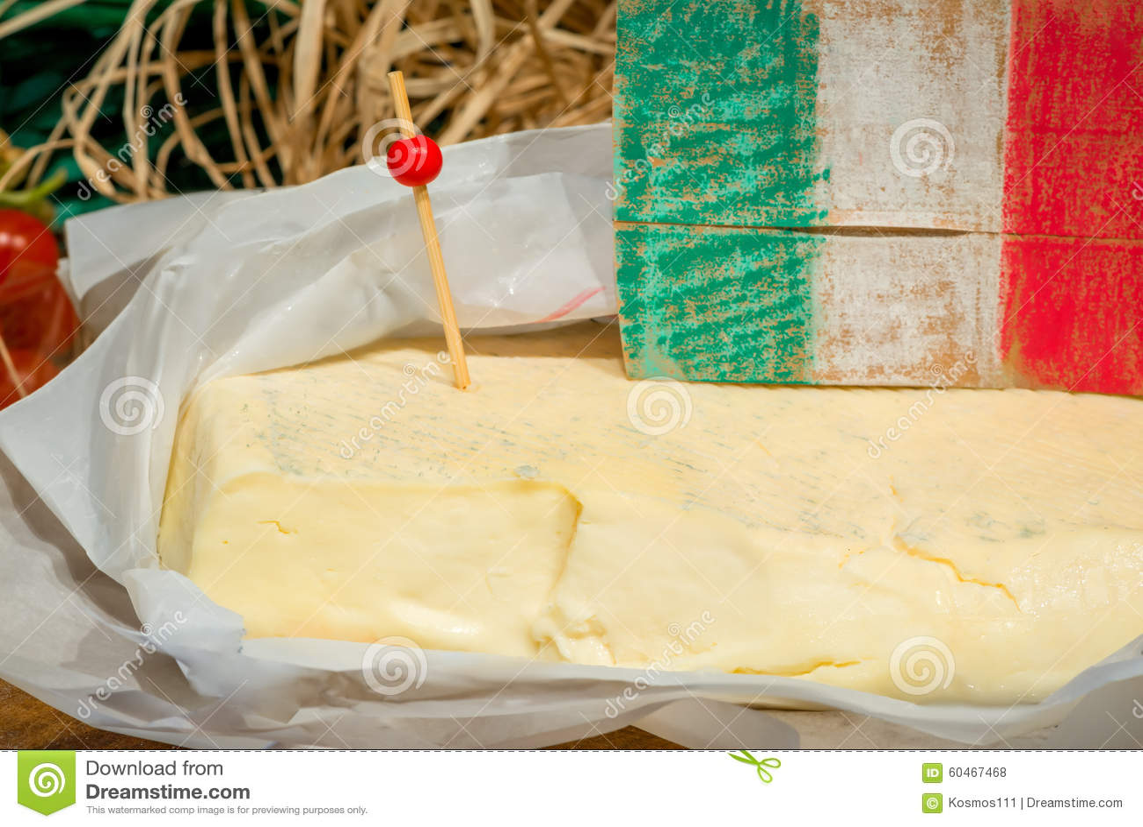 Ιταλική κινηματογράφηση σε πρώτο πλάνο τυριών πώλησης Primo