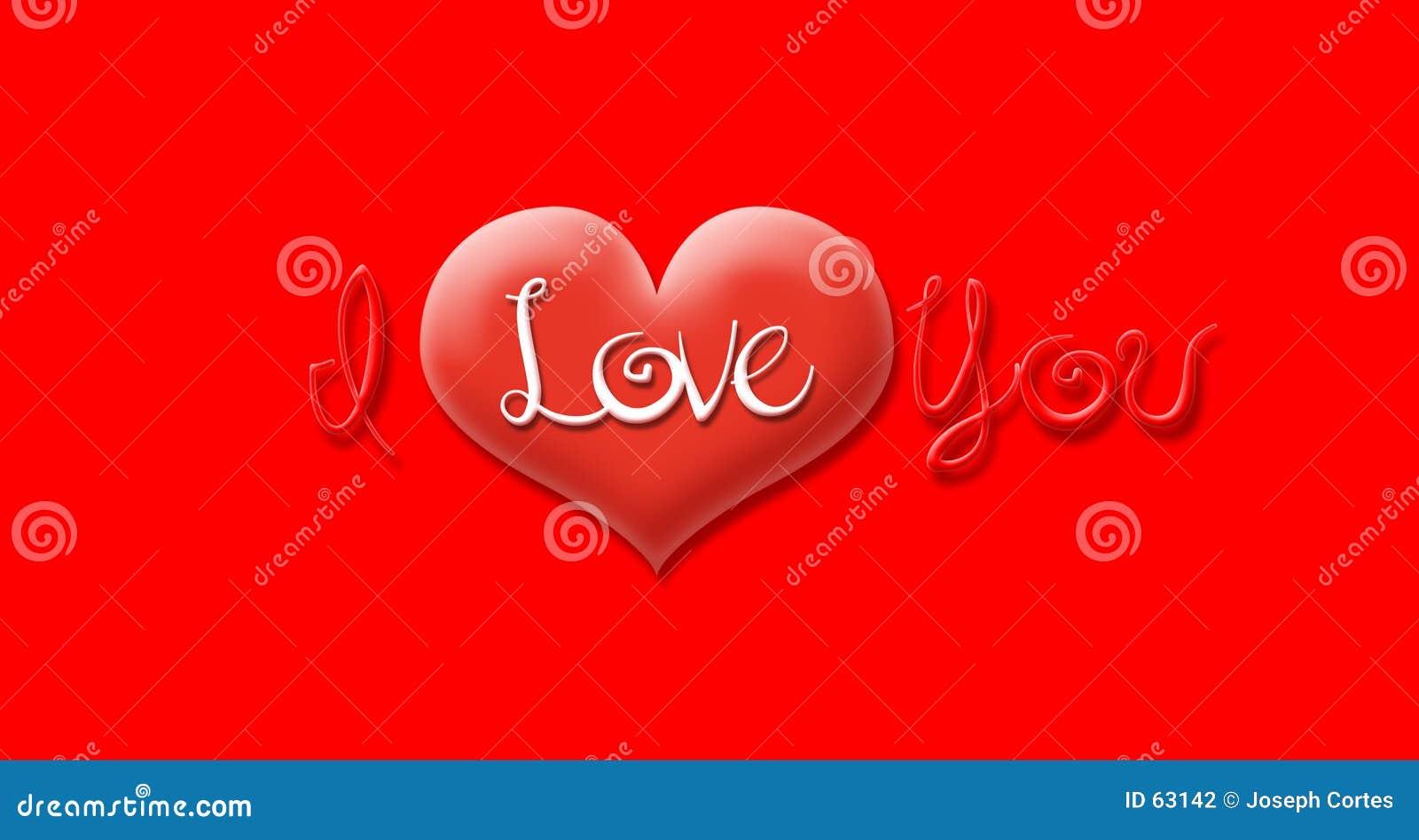 Download ι ΙΙ σας αγαπούν απεικόνιση αποθεμάτων. εικονογραφία από καρδιά - 63142
