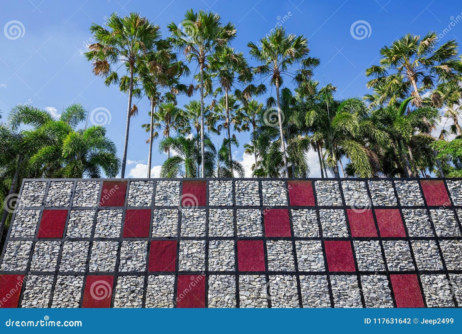 κάθετος δημιουργικός αρμονικός ύφους κήπων με τη φύση