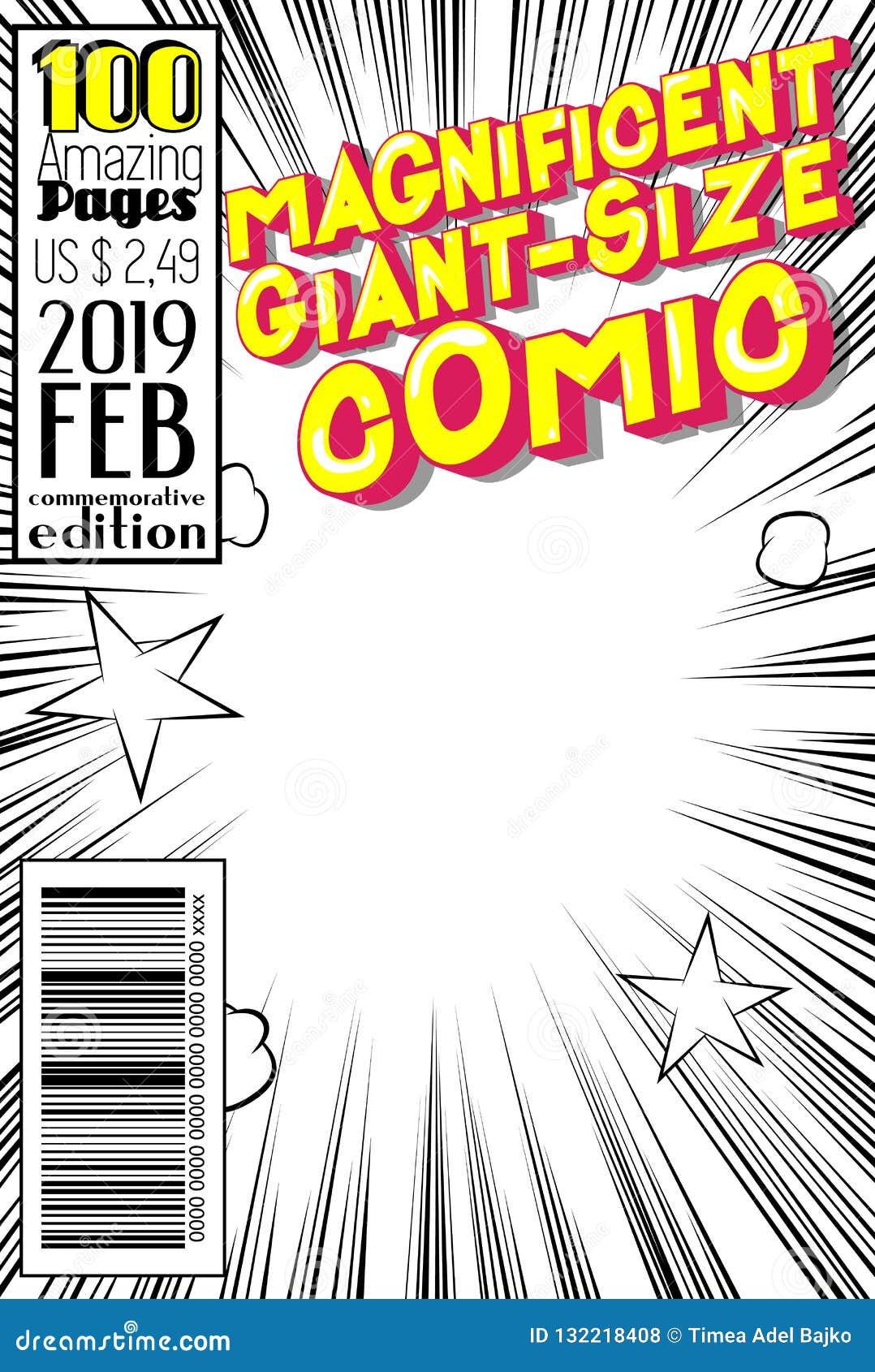 Κάλυψη κόμικς Editable με το αφηρημένο υπόβαθρο