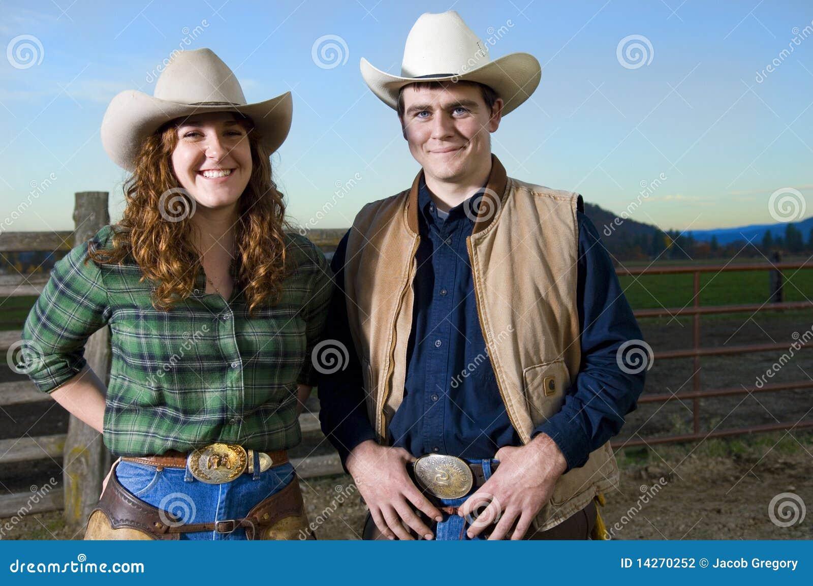 κάουμποϋ ζευγών cowgirl