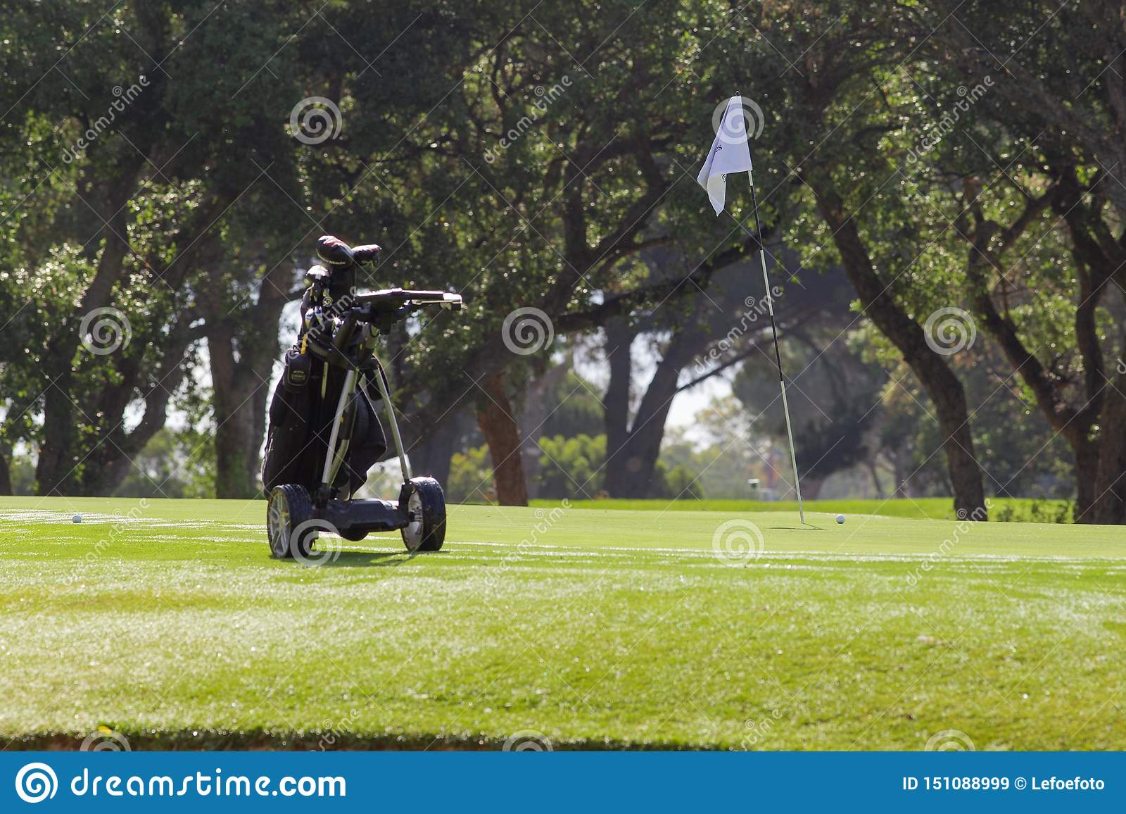 Κάρρο γκολφ ηλιόλουστο στη Μάλαγα
