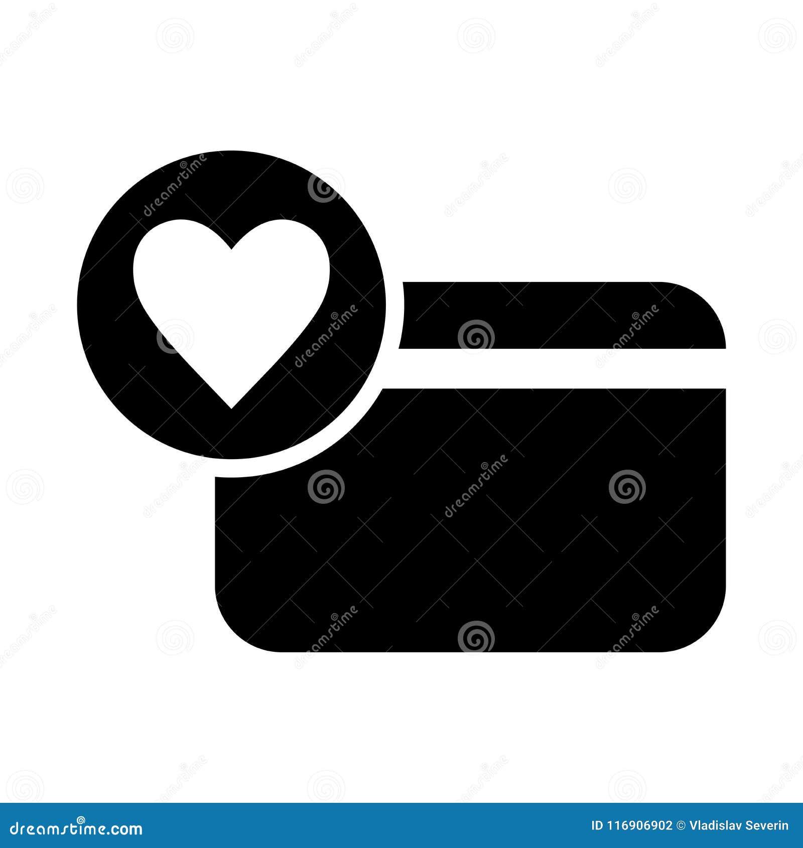 κάρτα με το εικονίδιο καρδιών