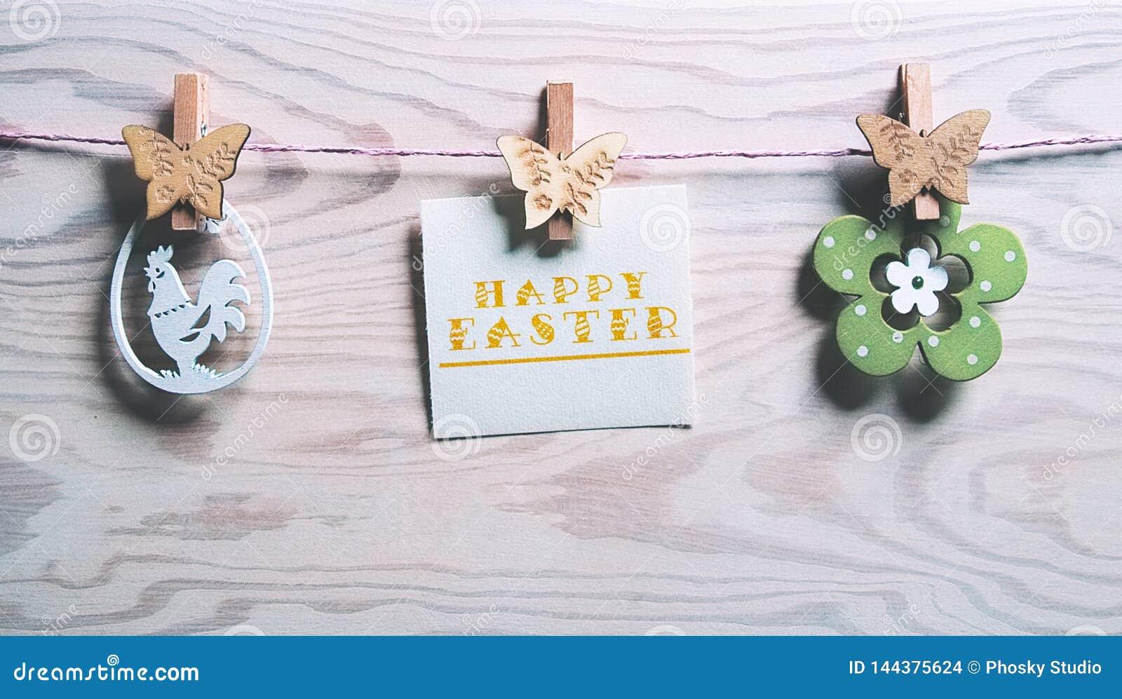 Κάρτα Πάσχας με τις λέξεις ευτυχές Πάσχα