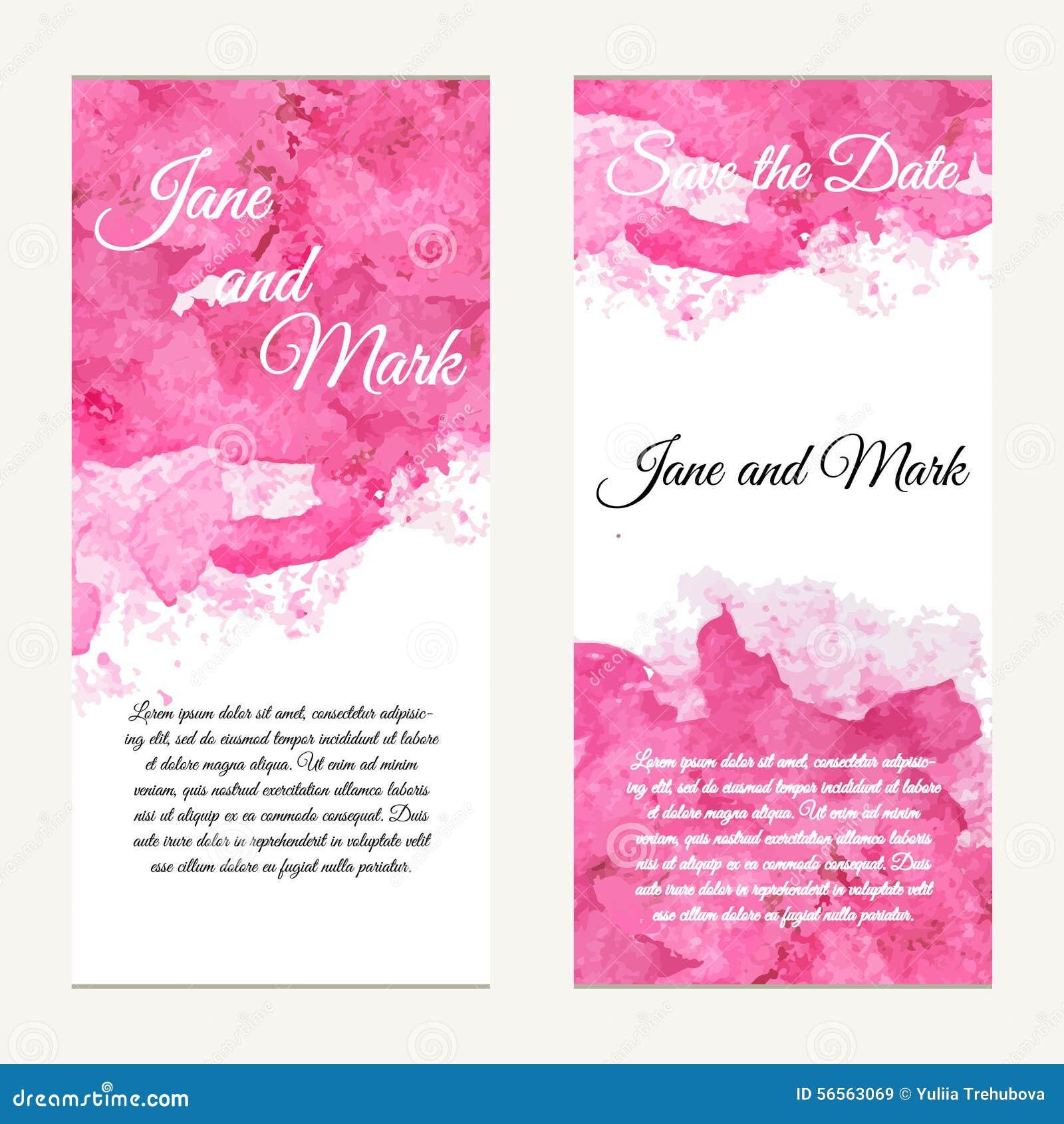 Download Κάρτα πρόσκλησης στο γάμο, γενέθλια Υπόβαθρο με το Watercolor Διανυσματική απεικόνιση - εικονογραφία από πρόσκληση, μοντέρνος: 56563069