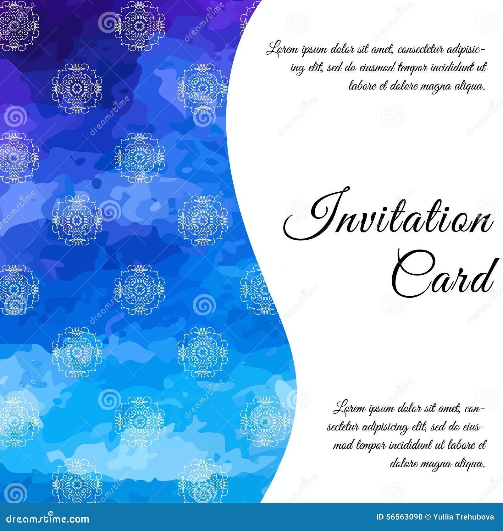 Download Κάρτα πρόσκλησης στο γάμο, γενέθλια Υπόβαθρο με το Watercolor Διανυσματική απεικόνιση - εικονογραφία από ανασκόπησης, γραφικός: 56563090