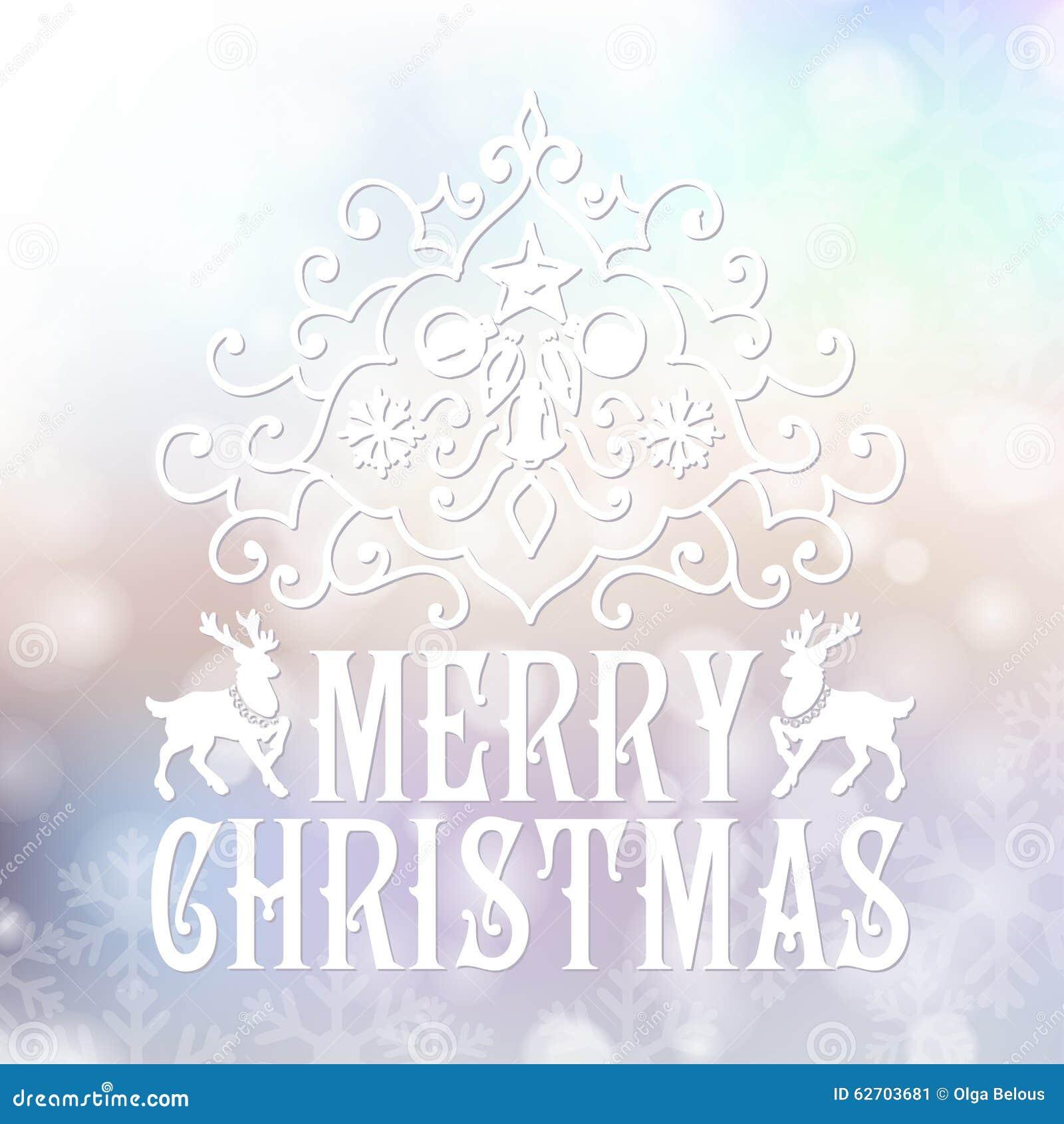 Κάρτα συγχαρητηρίων Χαρούμενα Χριστούγεννας σε μουτζουρωμένο