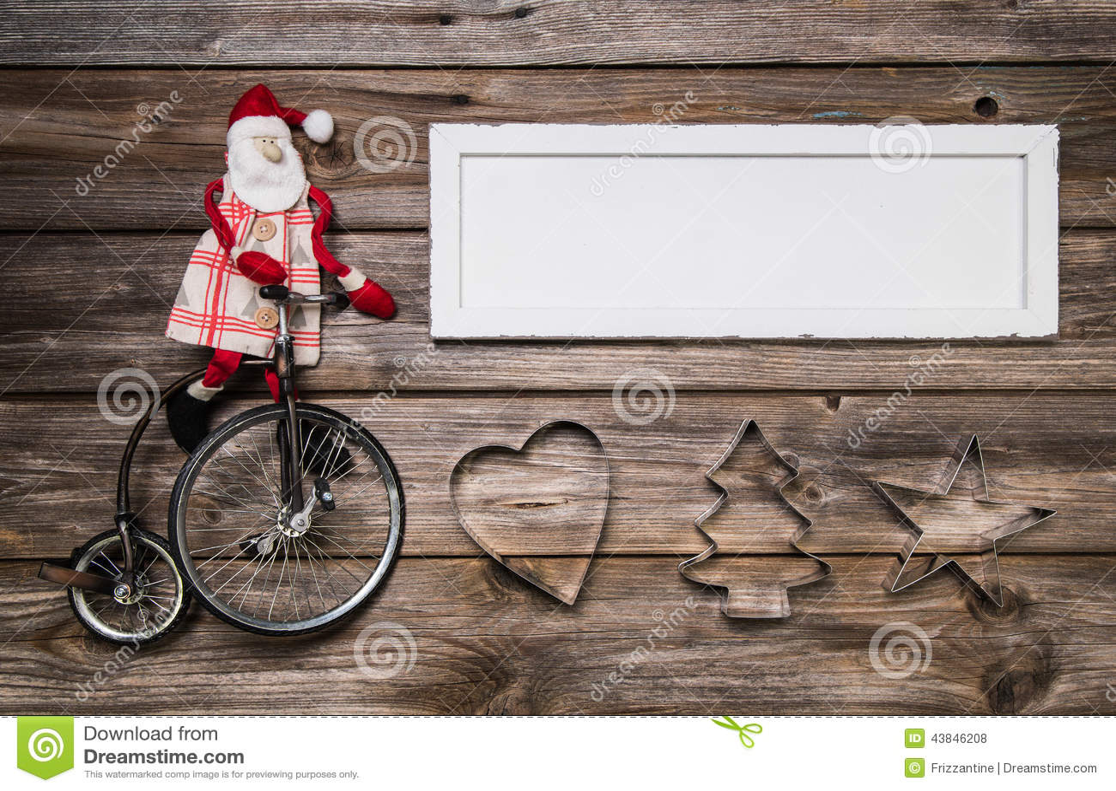 Κάρτα Χριστουγέννων ή σημάδι διαφήμισης με την κόκκινη και άσπρη διακόσμηση