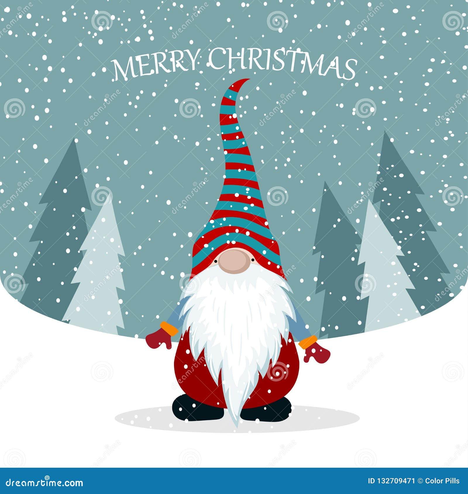 Κάρτα Χριστουγέννων με το χαριτωμένο στοιχειό