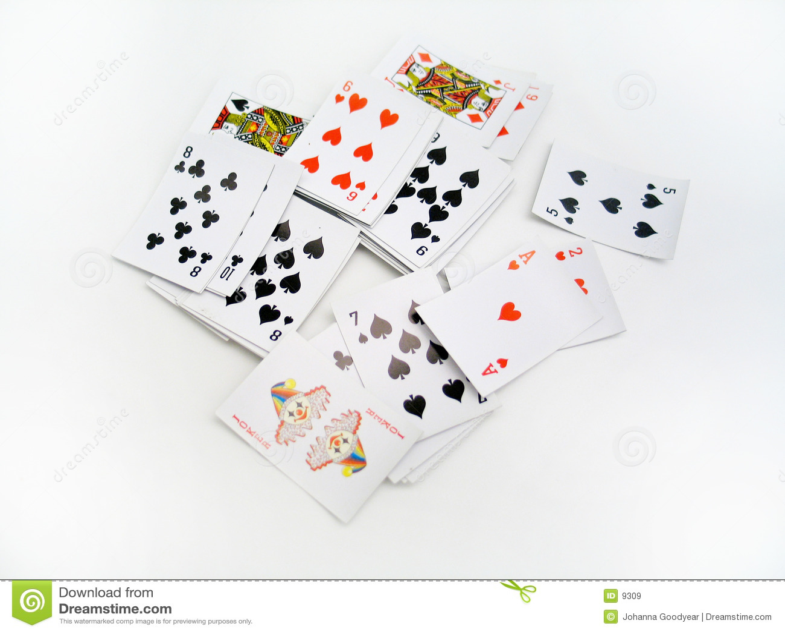 κάρτες διεσπαρμένες