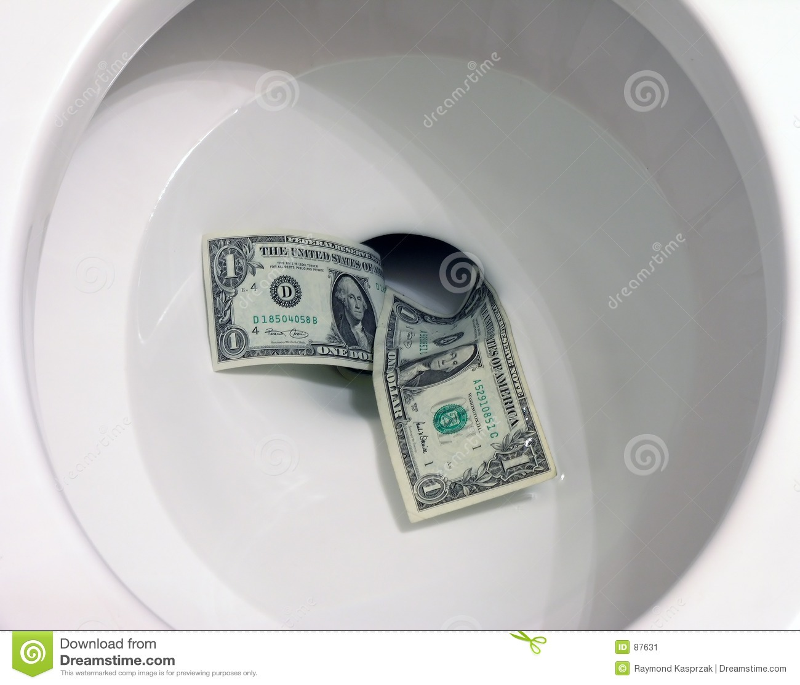 κάτω από την τουαλέτα χρημάτ&ome