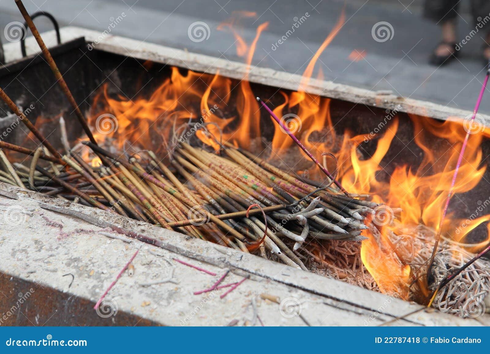 Κάψιμο ραβδιών θυμιάματος