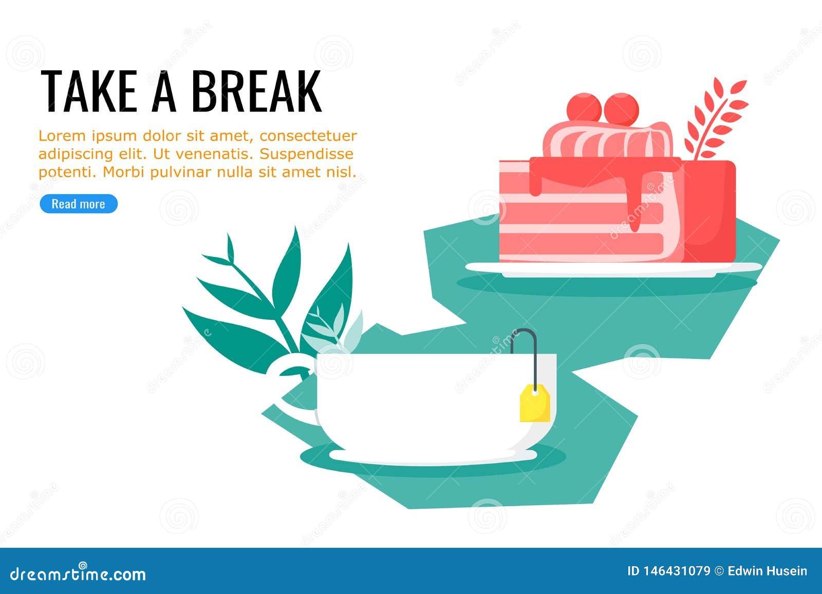 Κέικ και θερμός γλυκός χρόνος τσαγιού δωρεάν