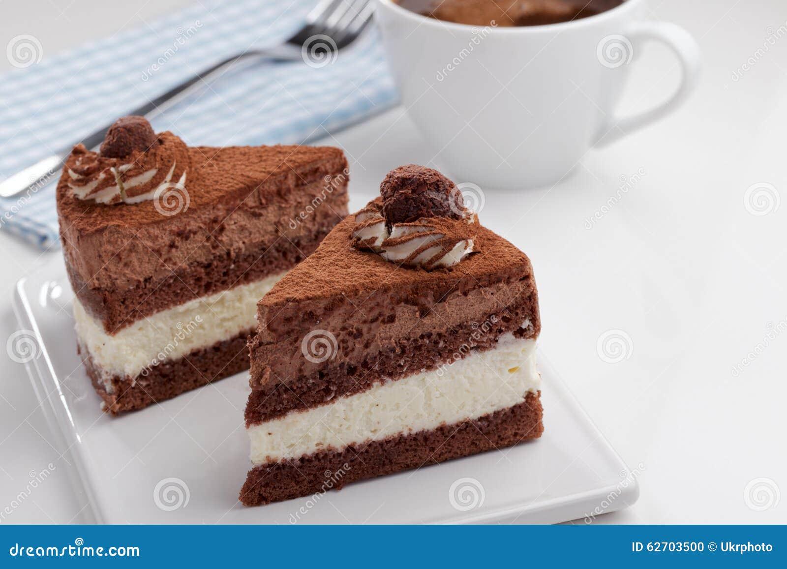 Κέικ και καφές σοκολάτας