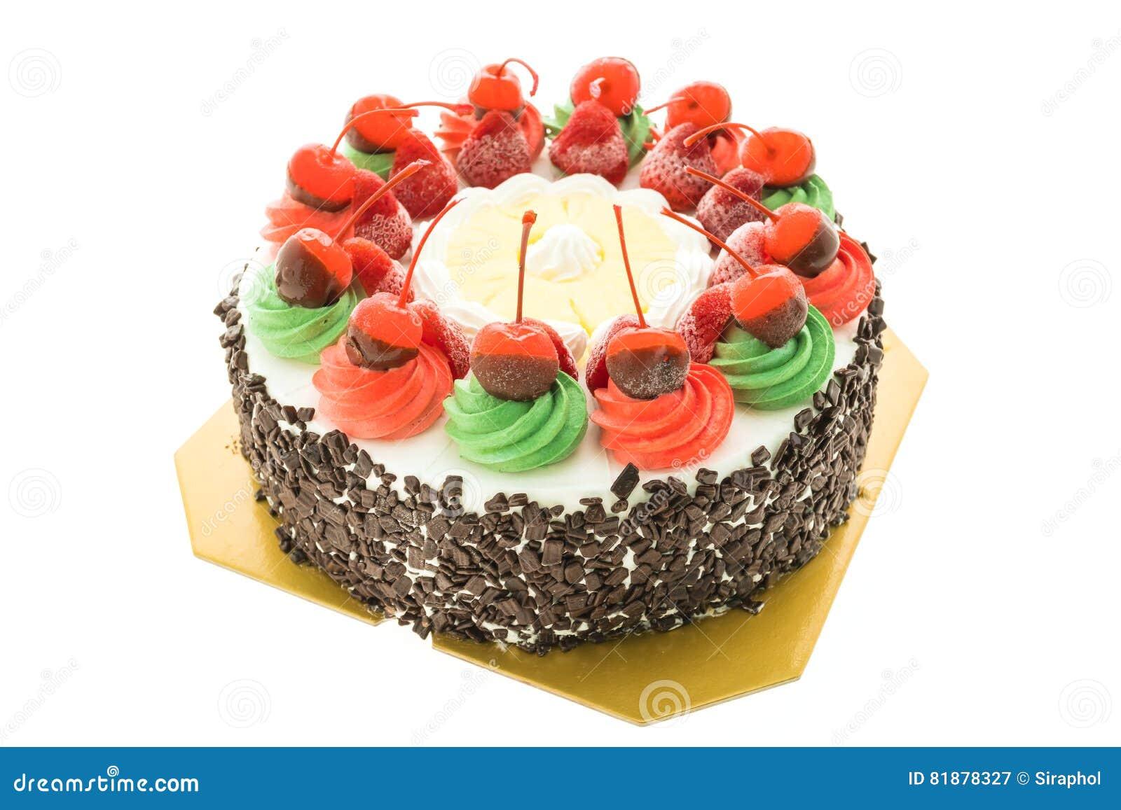 Κέικ παγωτού με το θέμα Χριστουγέννων και χαρωπός στην κορυφή