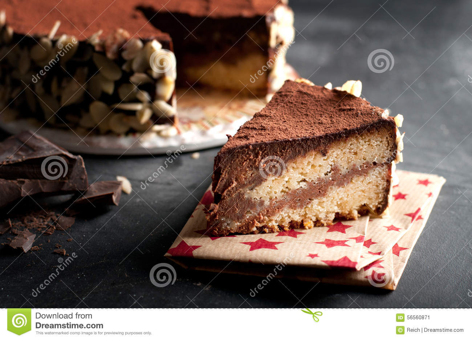 Download Κέικ σοκολάτας στοκ εικόνα. εικόνα από πάγωμα, αρτοποιών - 56560871