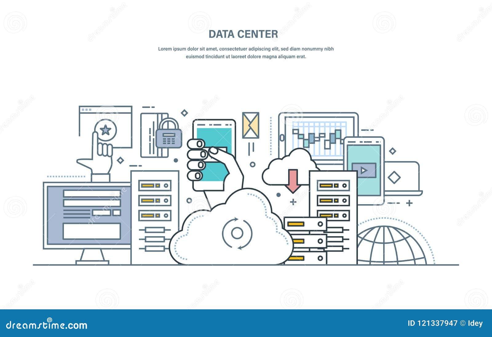 Κέντρο δεδομένων Αποθήκευση σύννεφων, ασφαλής αποθήκευση στοιχείων, φιλοξενώντας κεντρικός υπολογιστής δικτύου