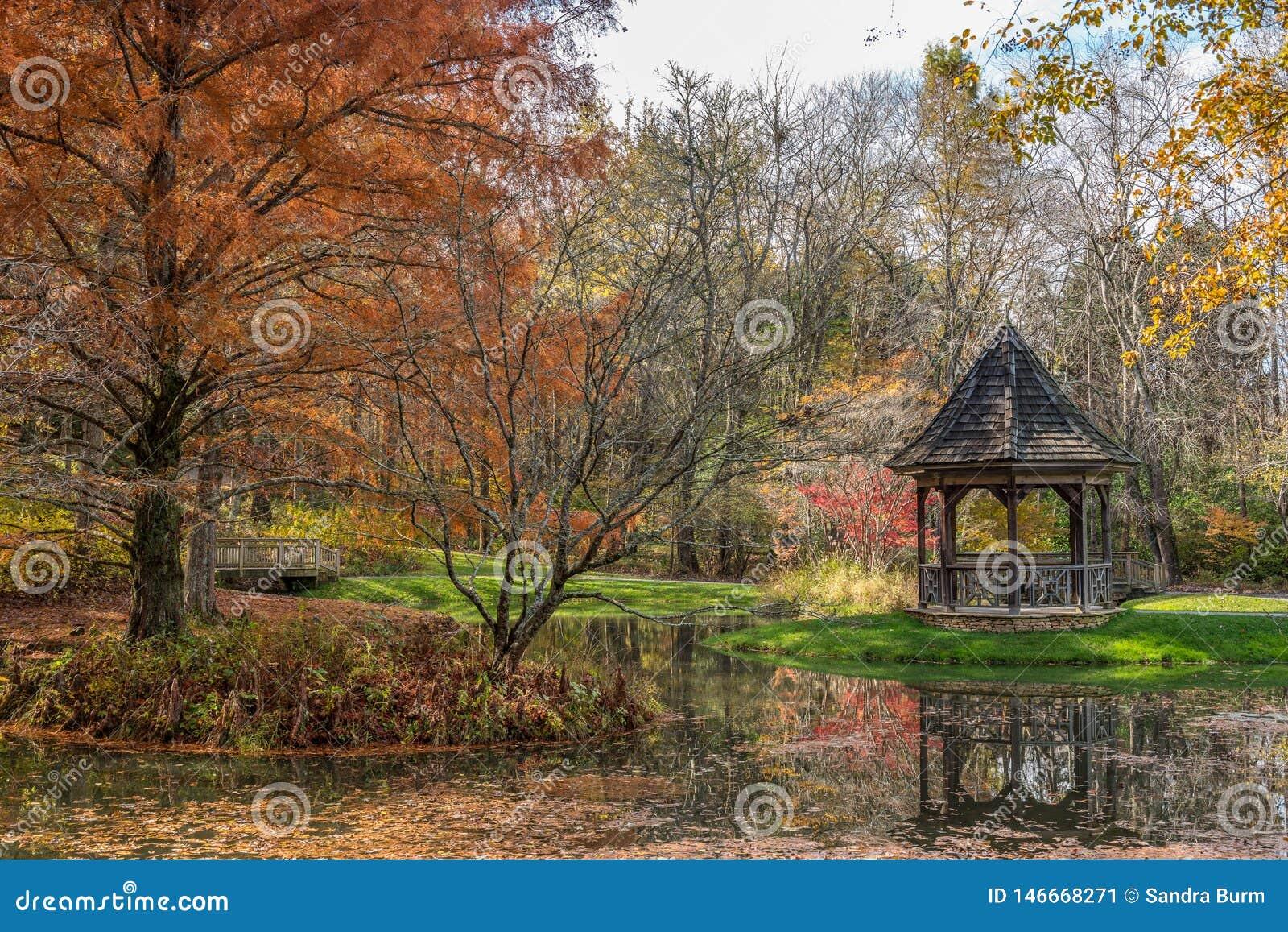 Κήποι Gibbs, έδαφος σφαιρών, Γεωργία ΗΠΑ 11/16/2018 το φθινόπωρο