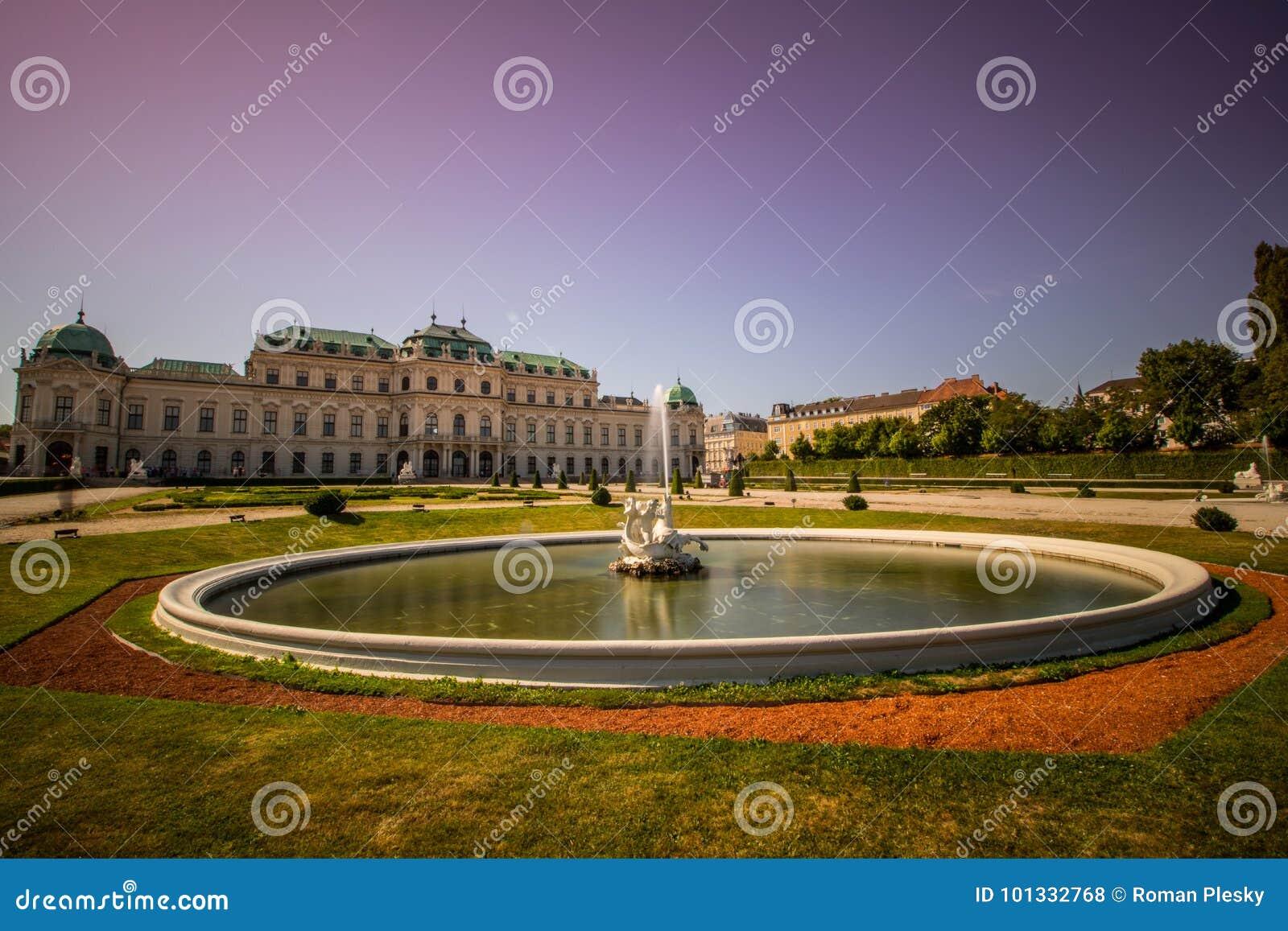 Κήπος παλατιών του πανοραμικού πυργίσκου στη Βιέννη, Αυστρία