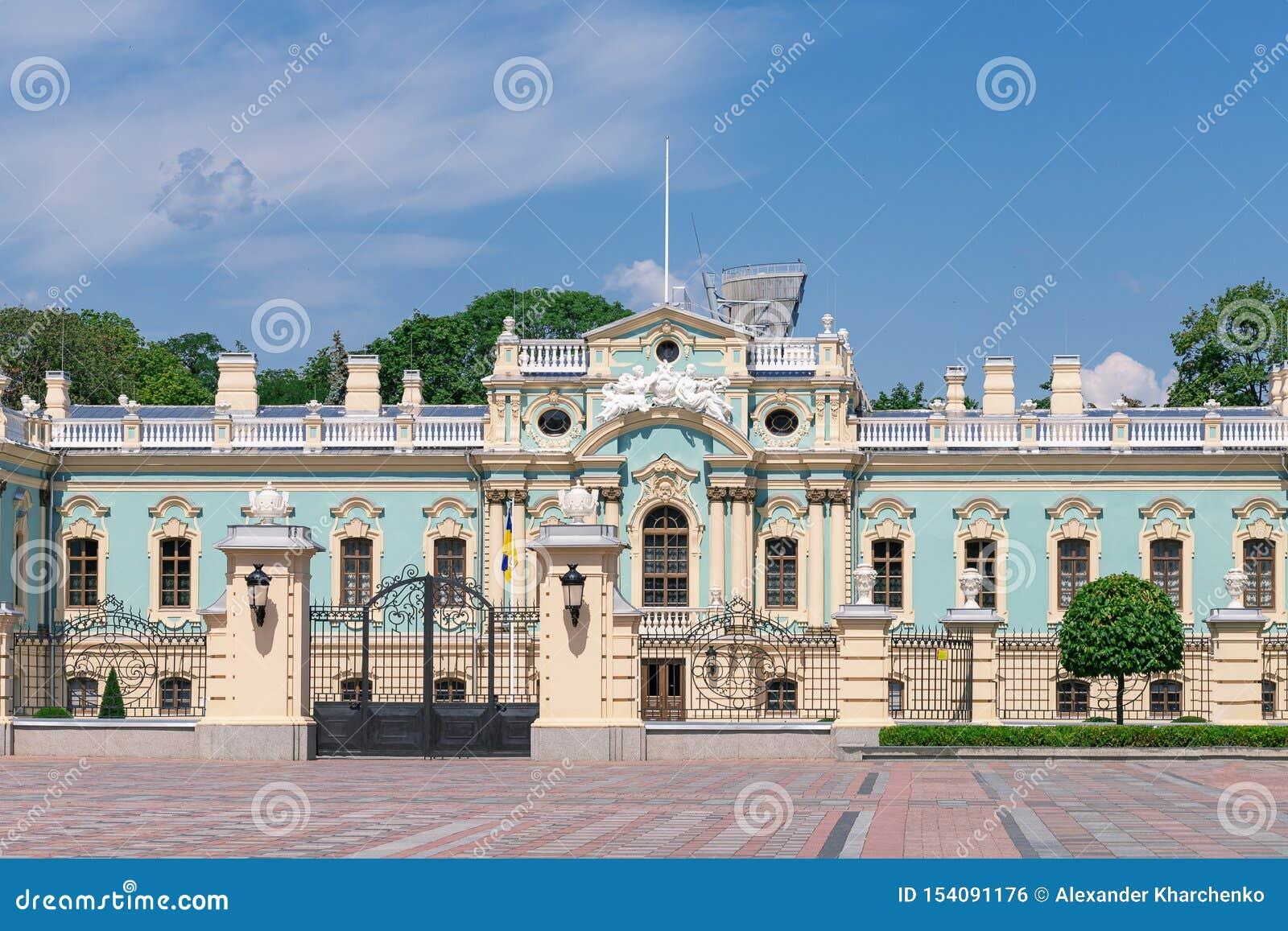 Κίεβο, Ουκρανία - 20 Ιουλίου 2019: Παλάτι Mariinsky Κατοικία του Προέδρου της Ουκρανίας