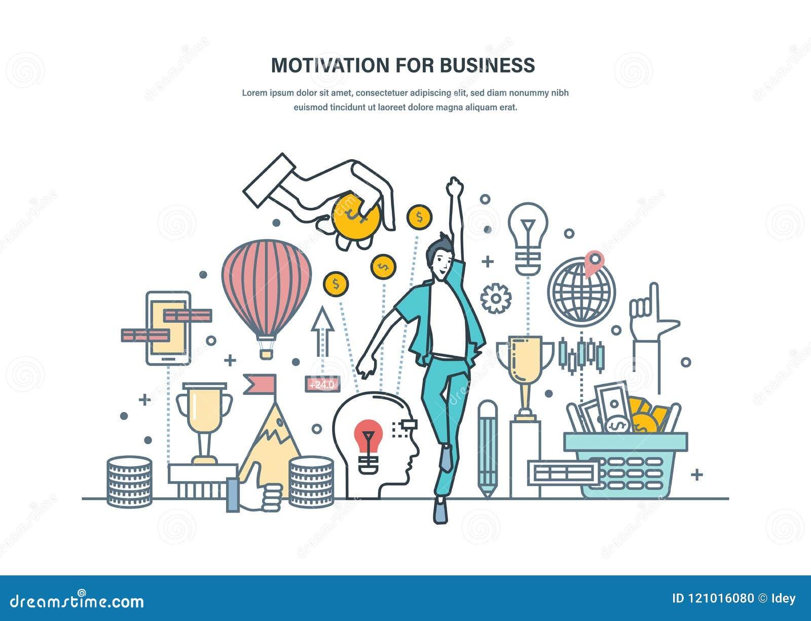 Κίνητρο για την επιχείρηση Επίτευγμα των υψηλών στόχων, μόνος-βελτίωση, αύξηση σταδιοδρομίας