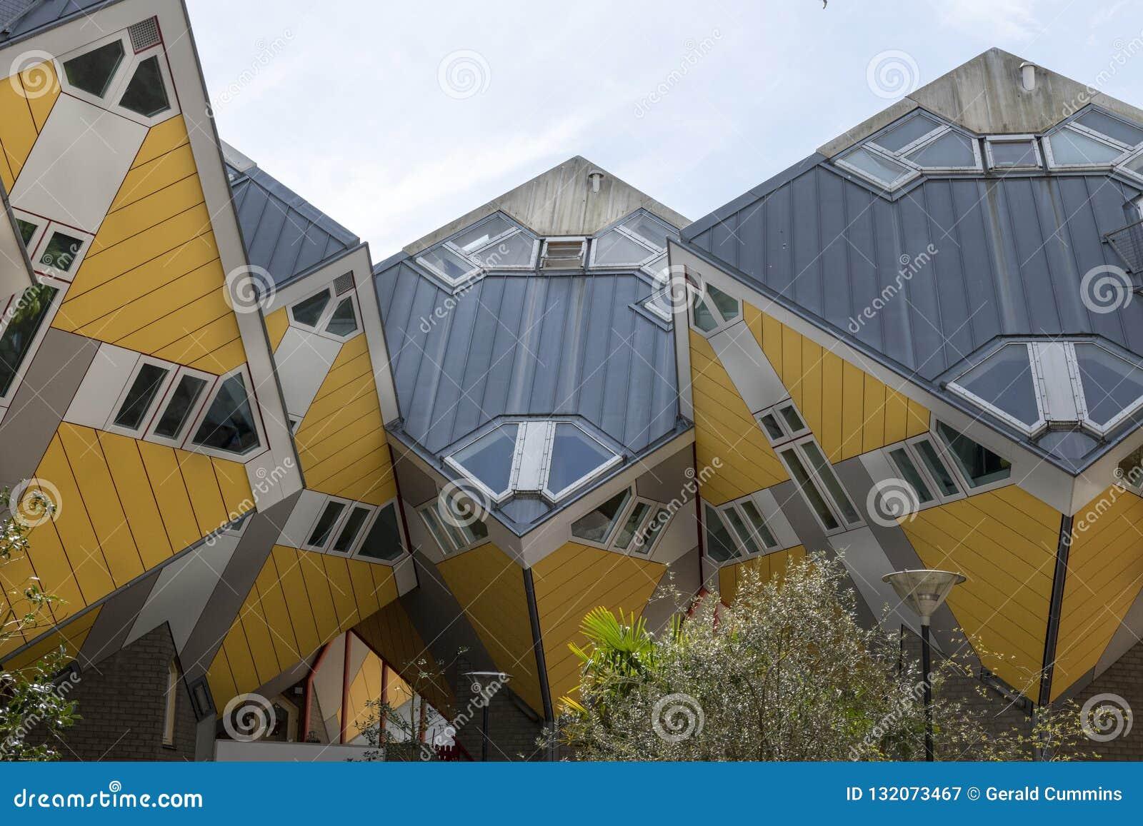 Κίτρινα σπίτια κύβων, Ρότερνταμ, Ολλανδία