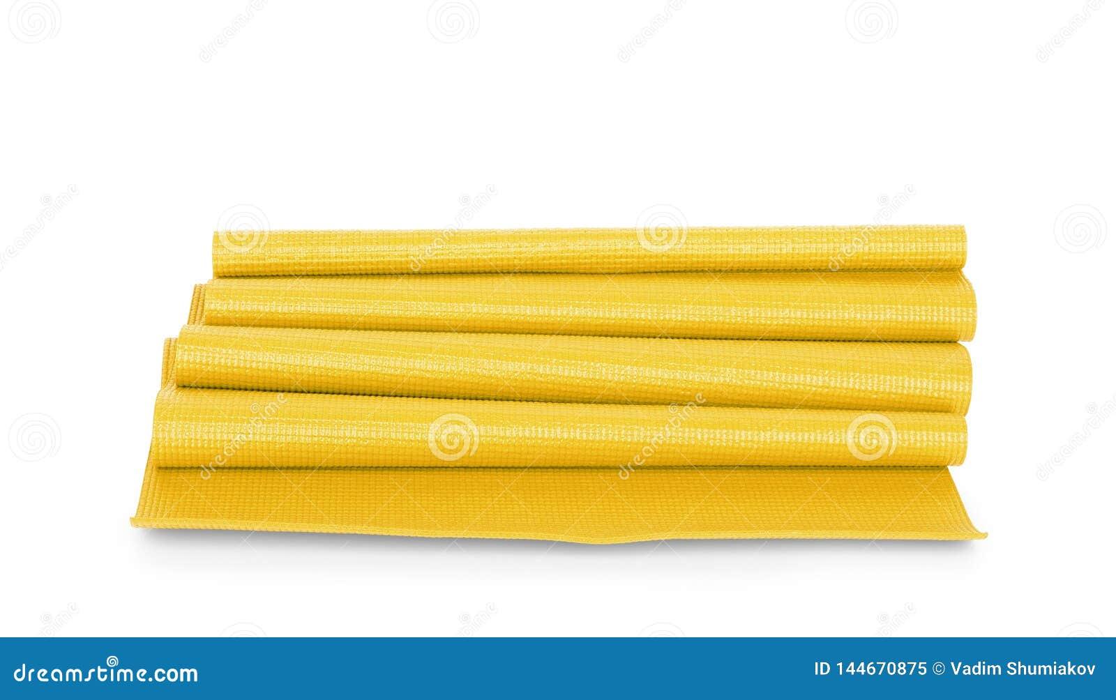 Κίτρινη γιόγκα χρώματος ματ στο υπόβαθρο