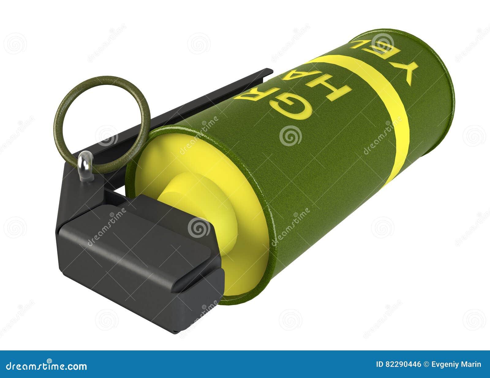 Κίτρινη χειροβομβίδα καπνού