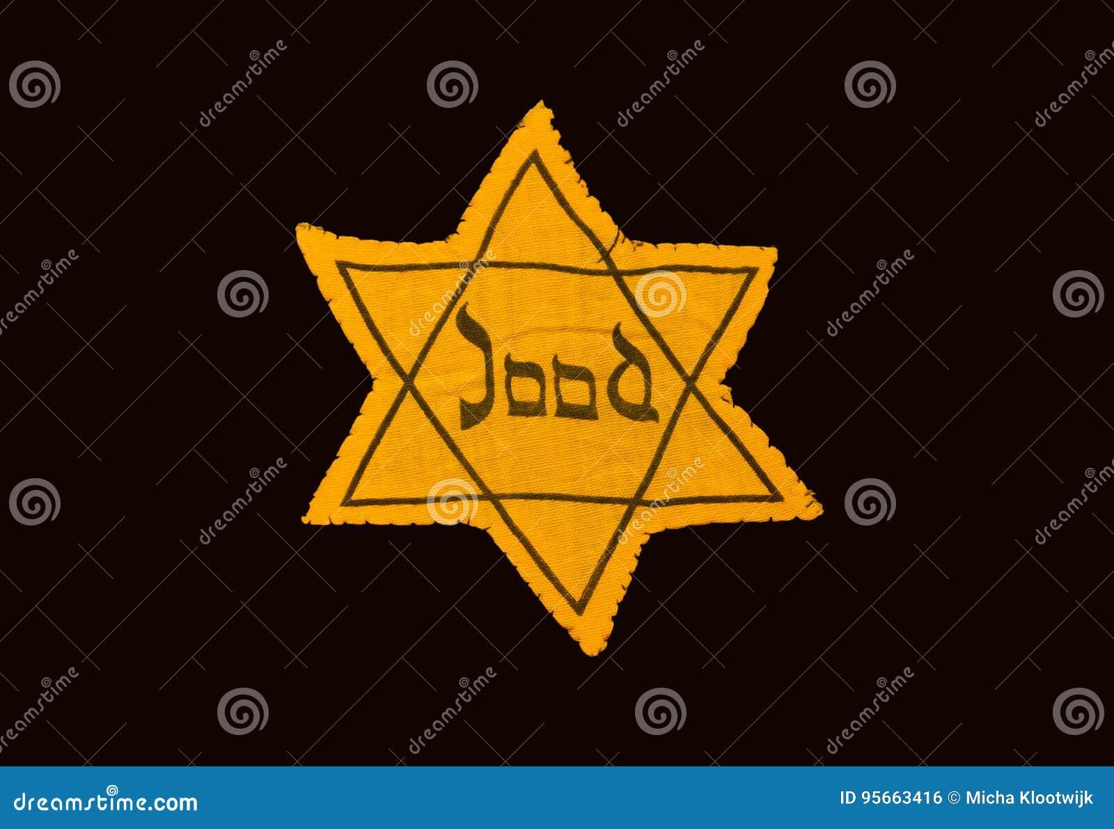 Κίτρινο και μαύρο αστέρι που οι Εβραίοι έπρεπε για να φορέσουν στη Oc