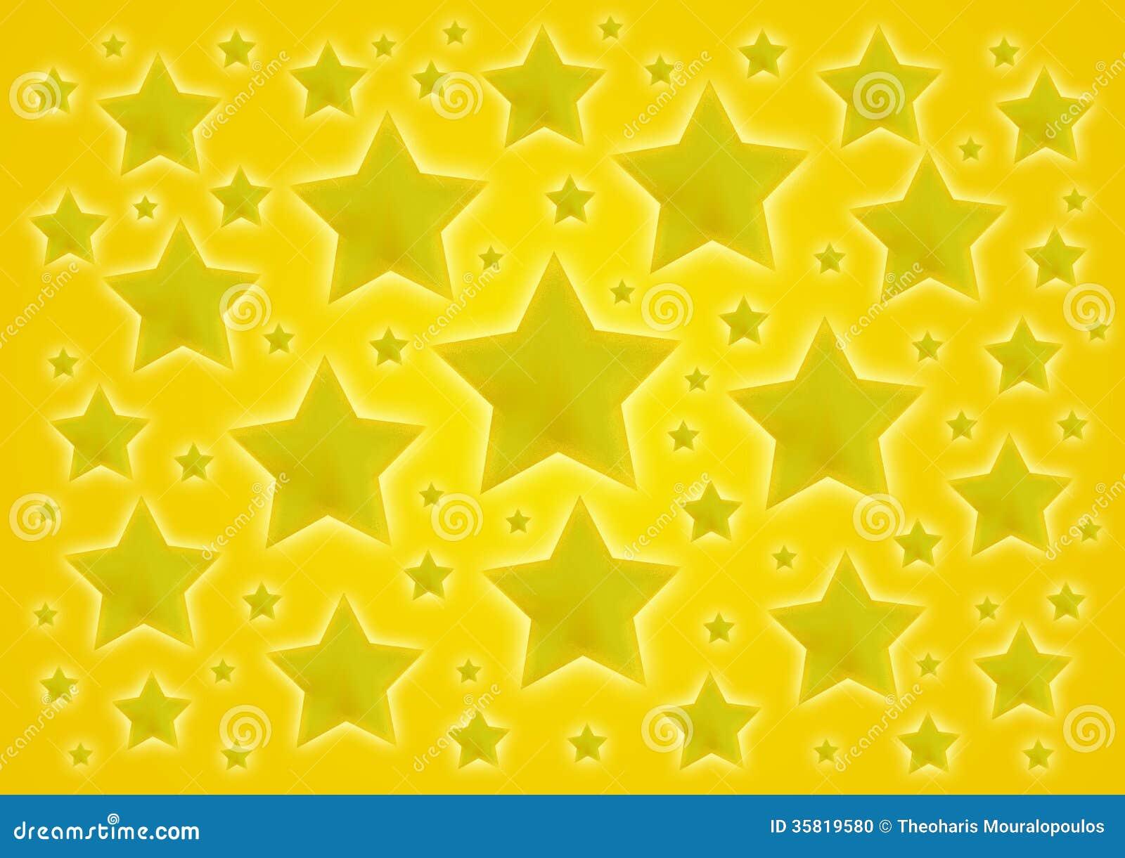 Κίτρινο υπόβαθρο αστεριών