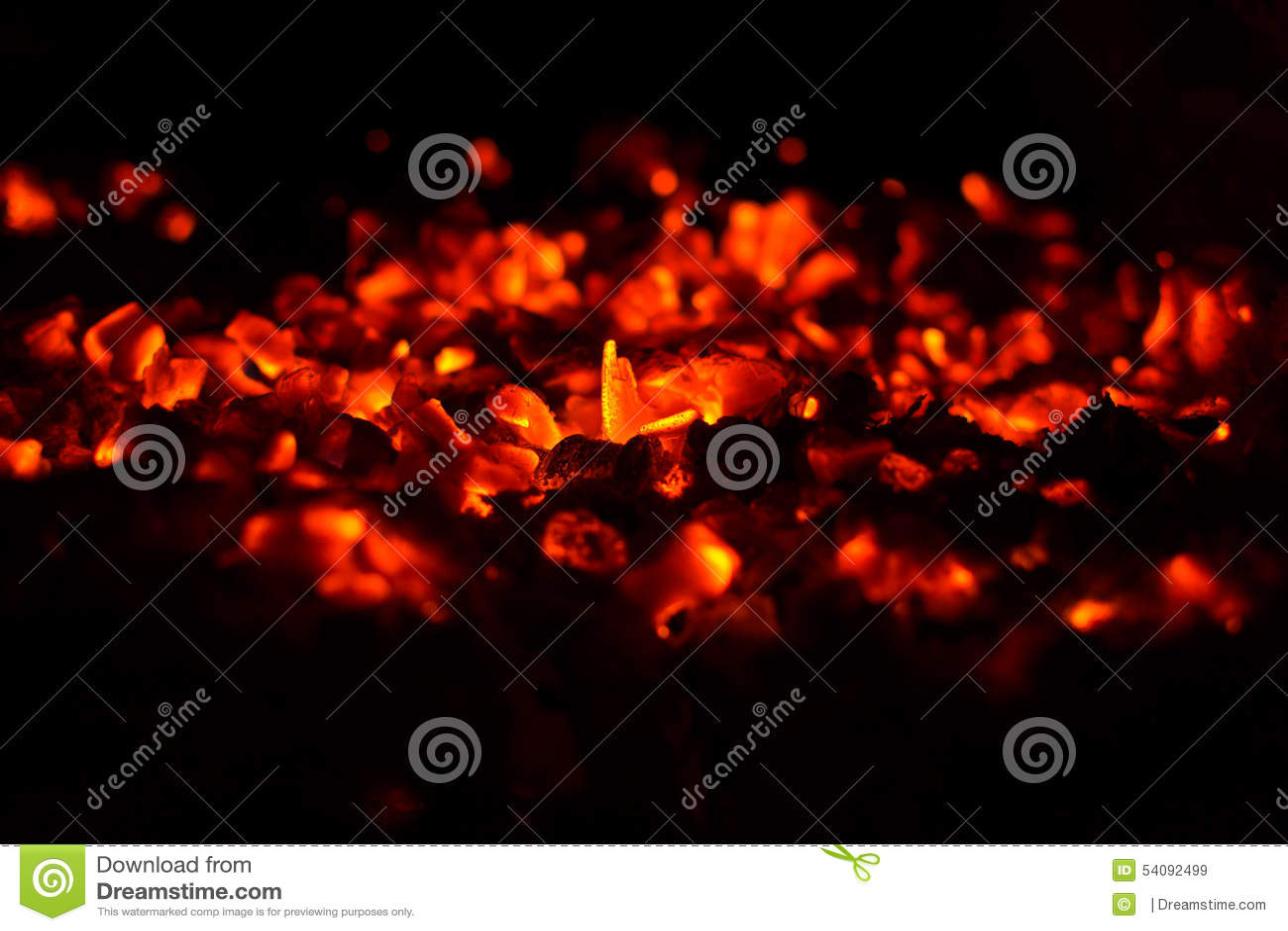 καίγοντας άνθρακες