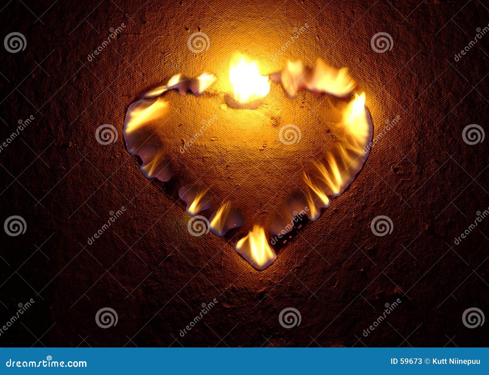 καίγοντας καρδιά