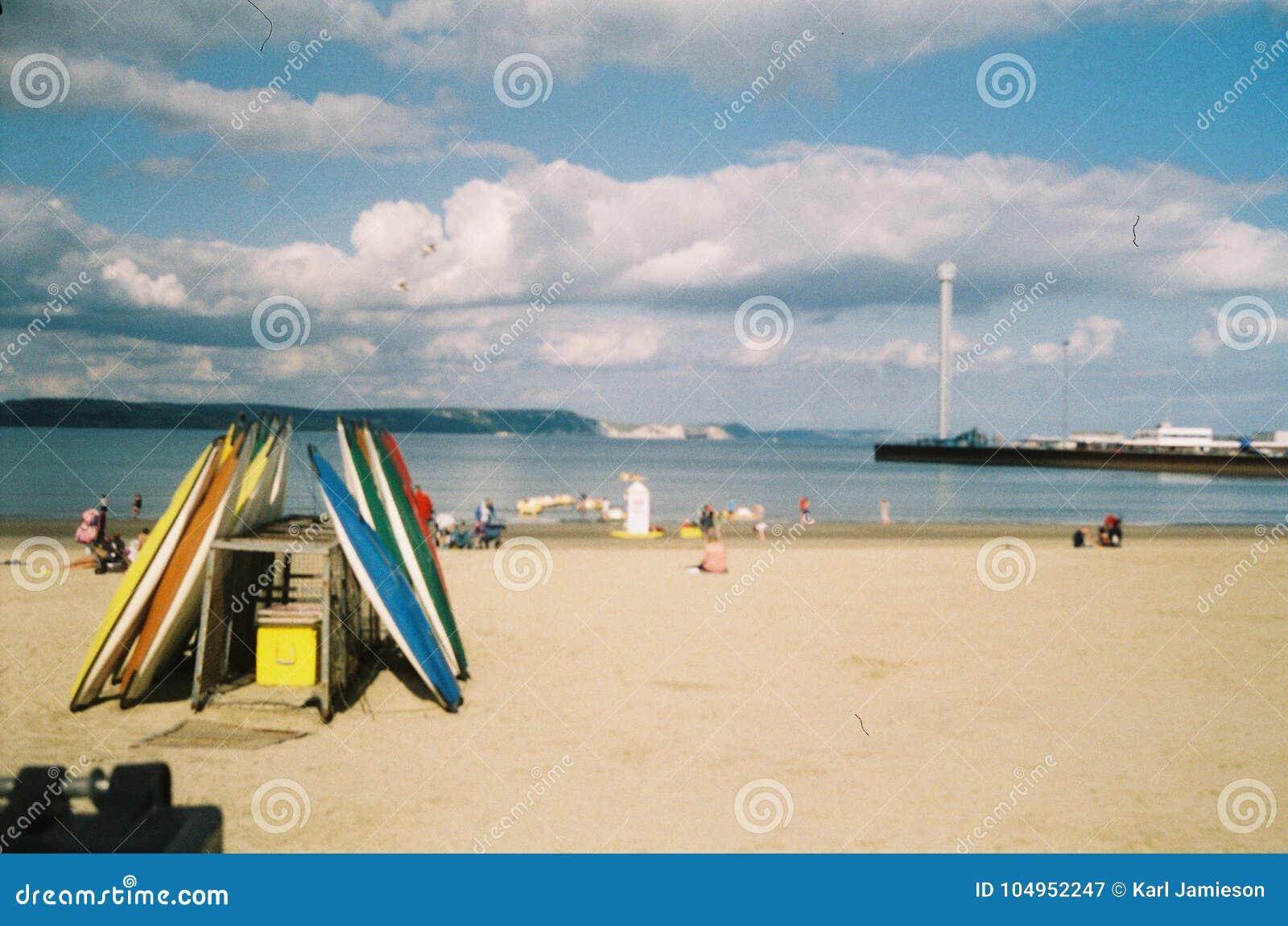 Καγιάκ στην παραλία σε Weymouth, Dorset, UK