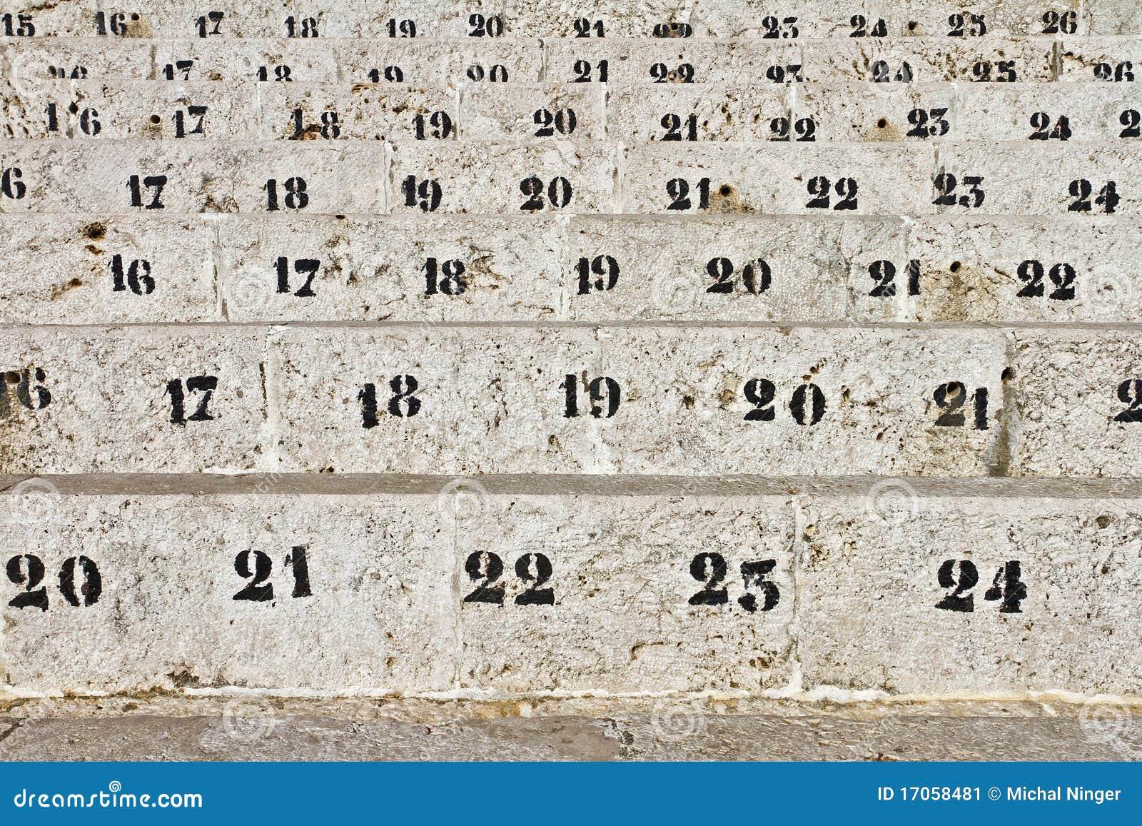 καθίσματα αριθμού χώρων